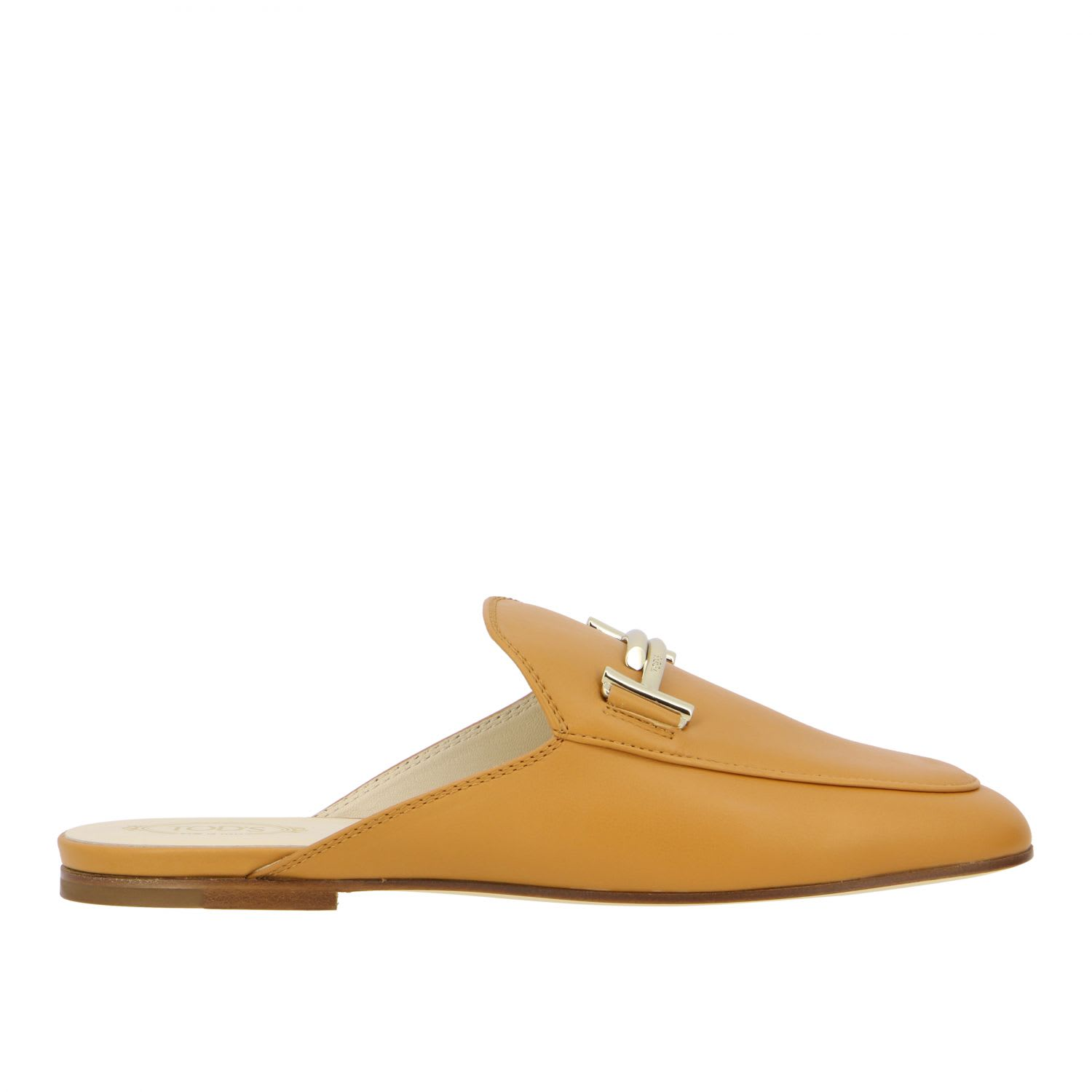 Loafers Tods Sabot In Smooth Leather With Double TComposition: 100% Calfskin