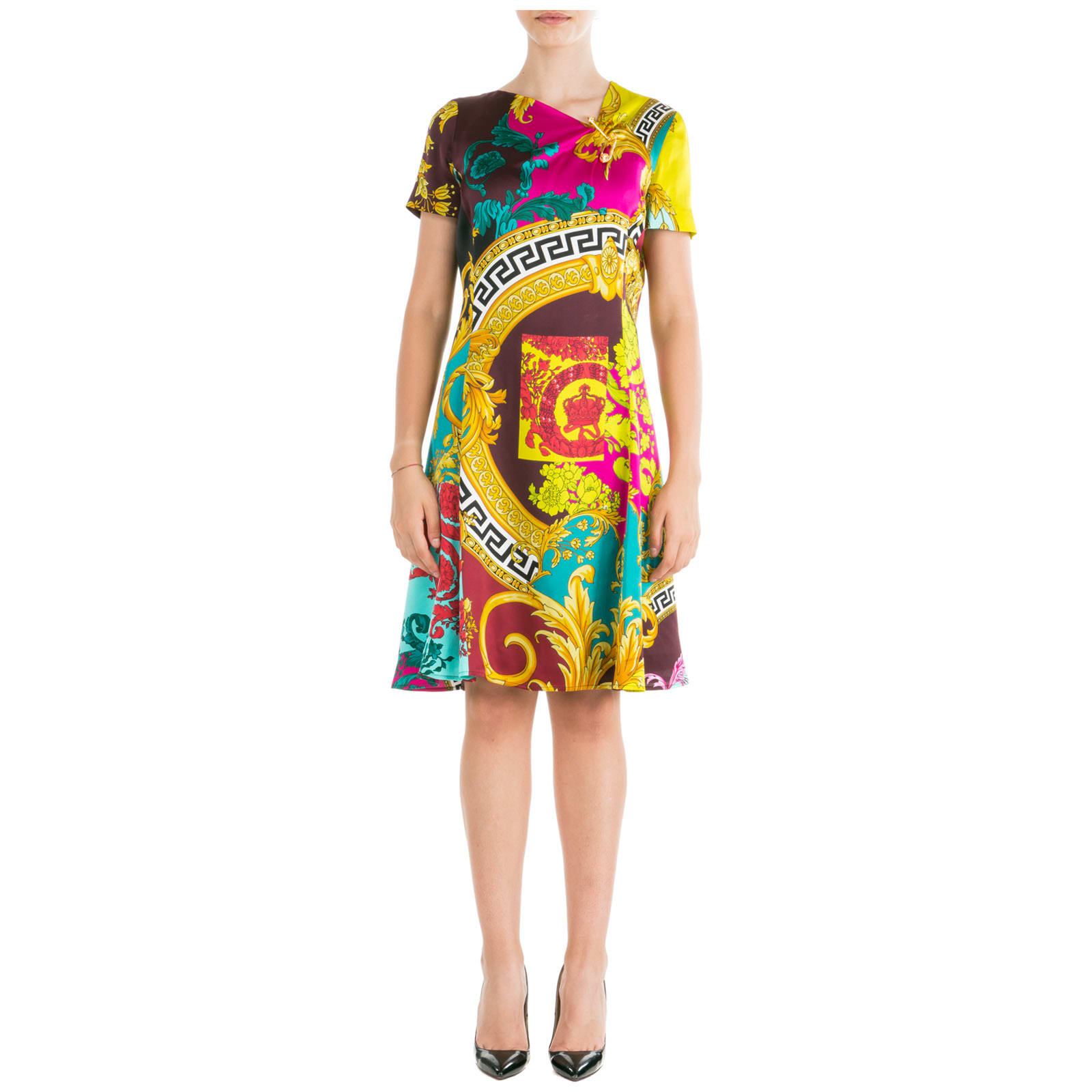 Versace Knee Length Dress Short Sleeve