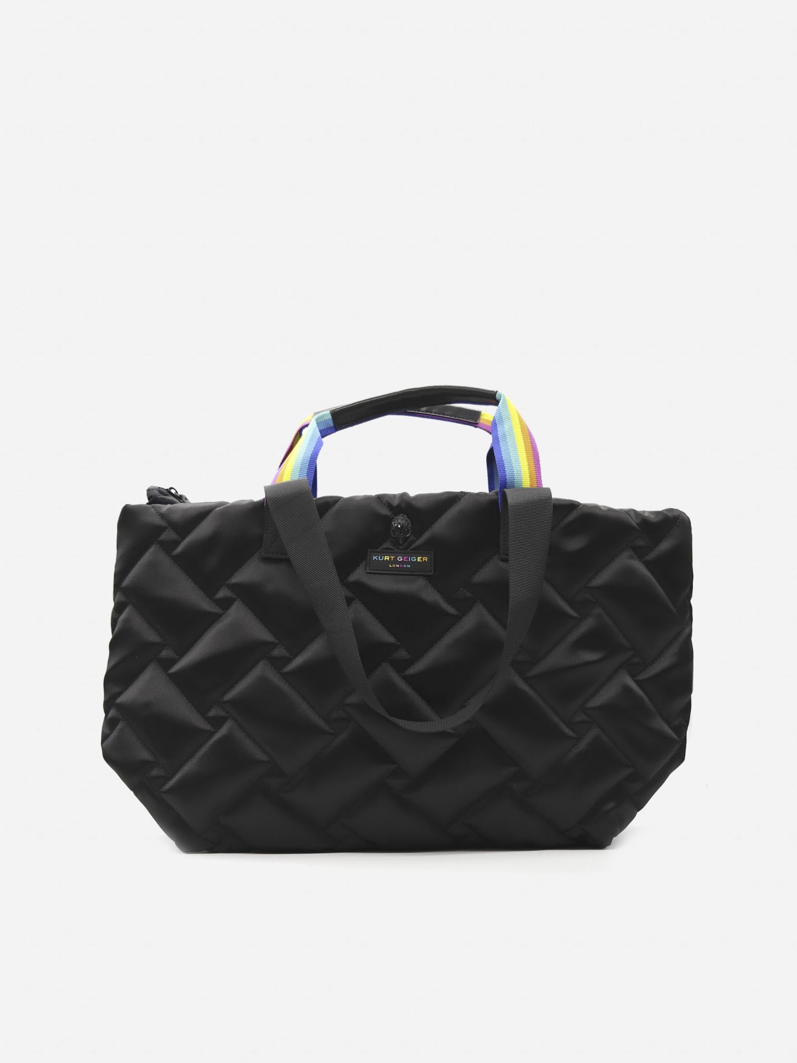 Shoulder Bag With Quilted Design