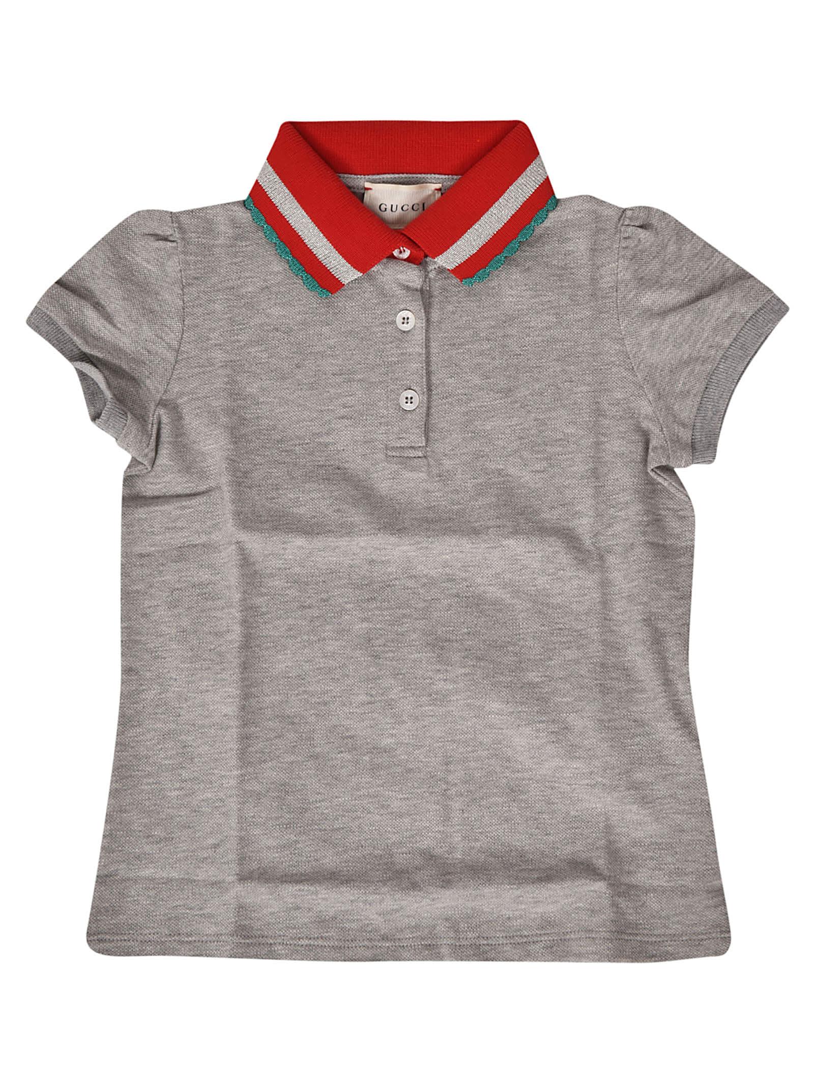c8d88ec3fa55 Gucci Gucci Contrast Collar Polo Shirt - Grey - 10913758 | italist