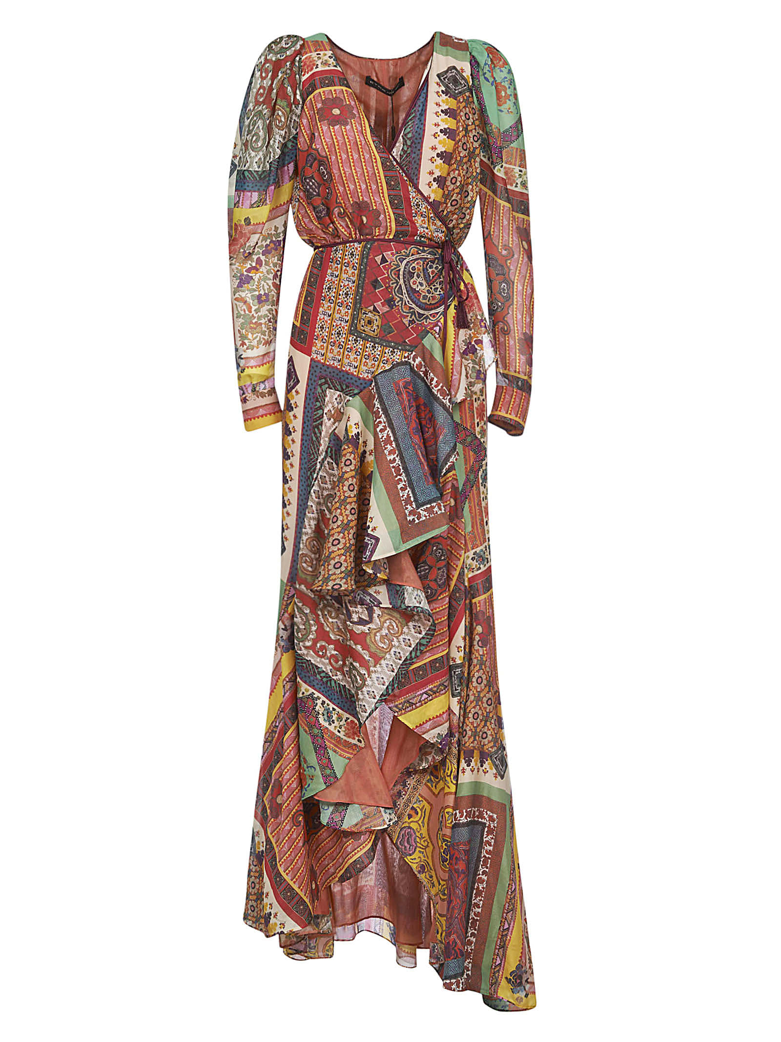 Buy Etro Asymmetric Printed Maxi Dress online, shop Etro with free shipping