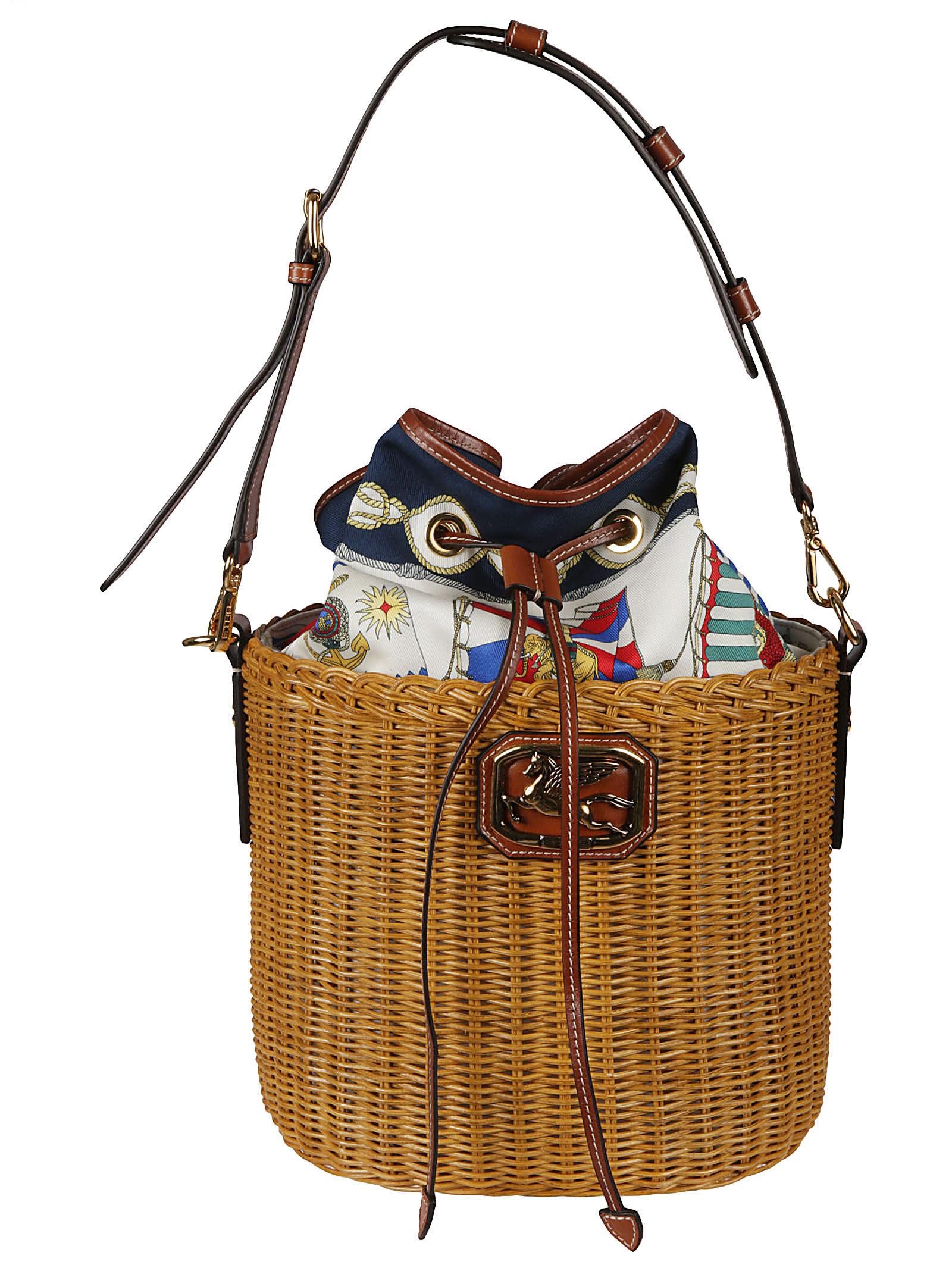 Etro Leathers BASKET BUCKET BAG