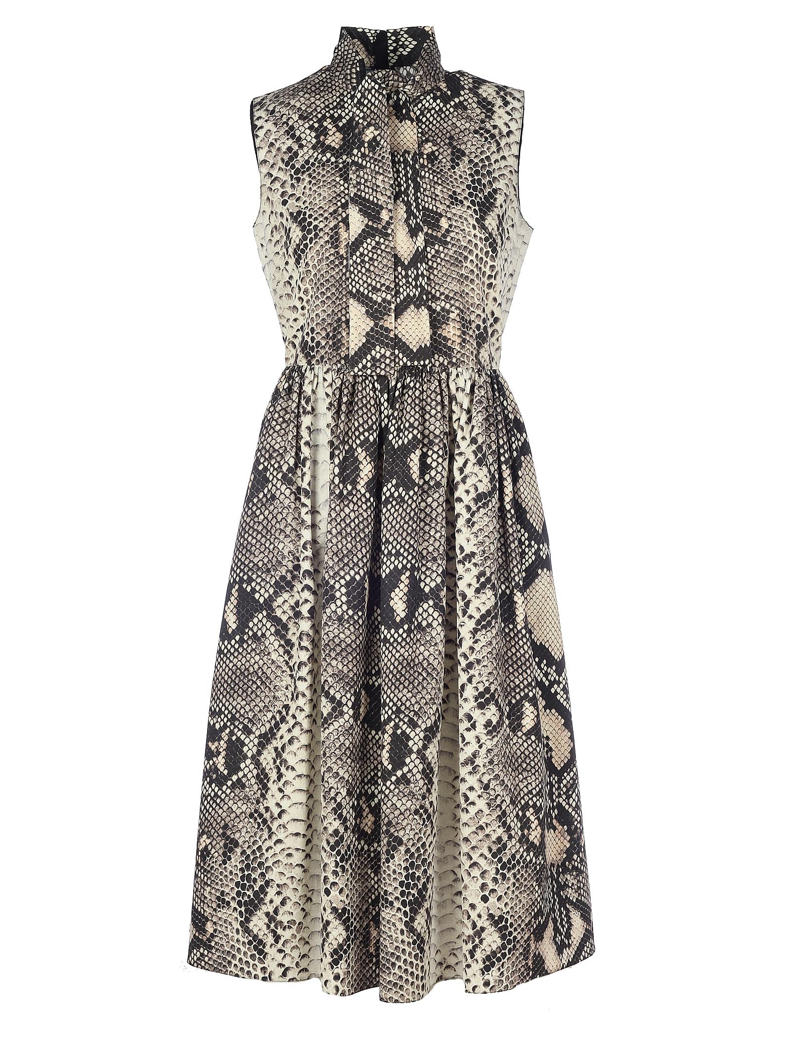 Buy Prada Cotton Phyton Sleeveless Dress online, shop Prada with free shipping