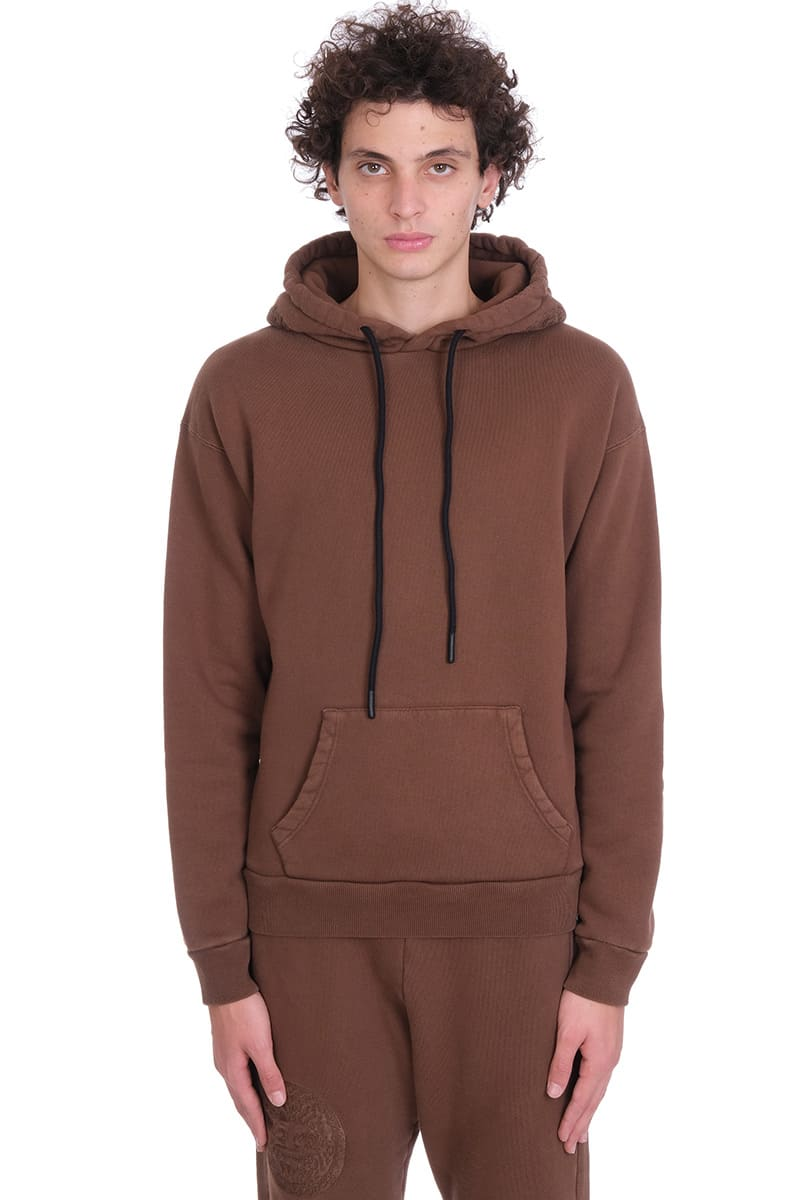 Sweatshirt In Brown Cotton