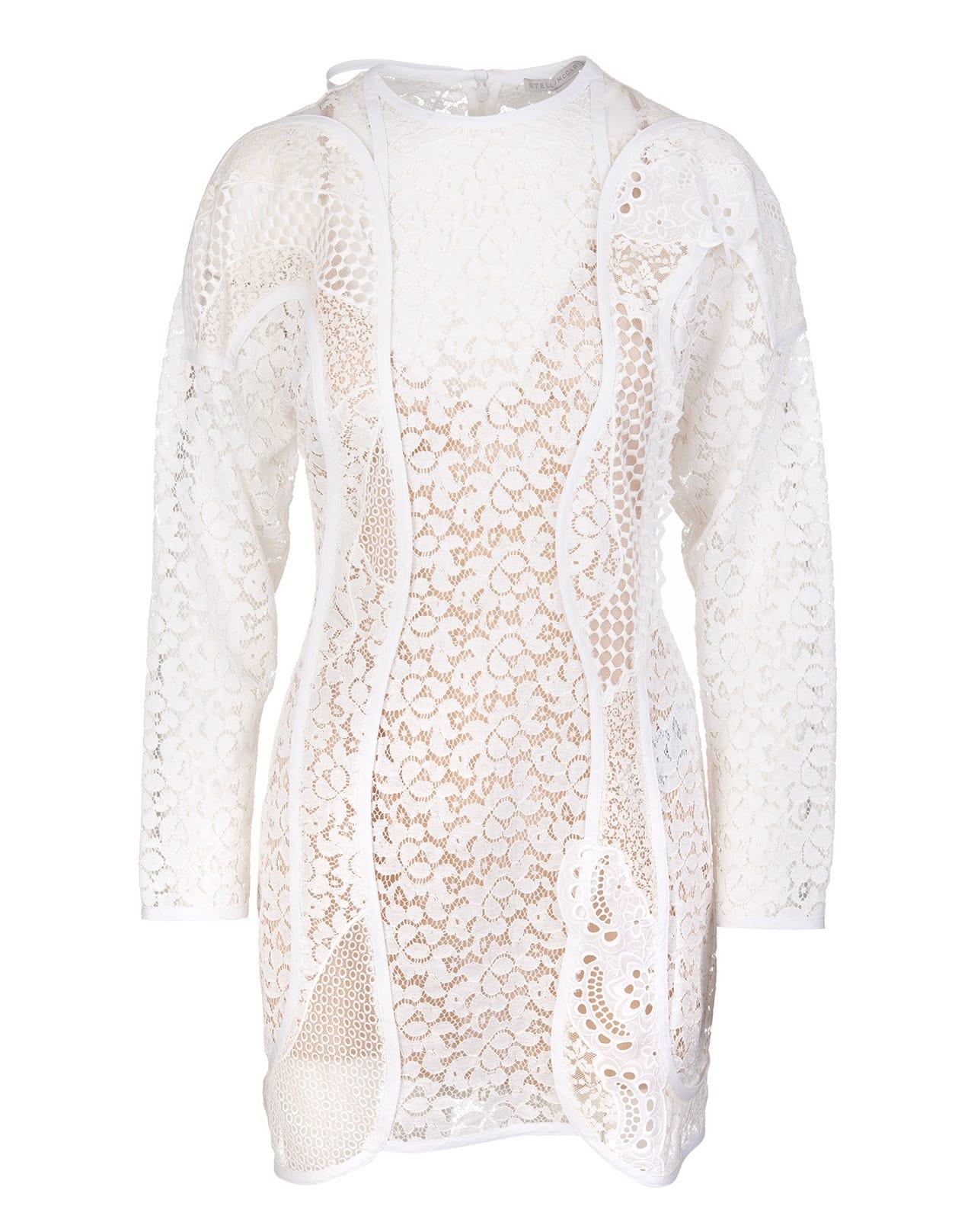 Buy Stella McCartney Cream Daphne Minidress online, shop Stella McCartney with free shipping