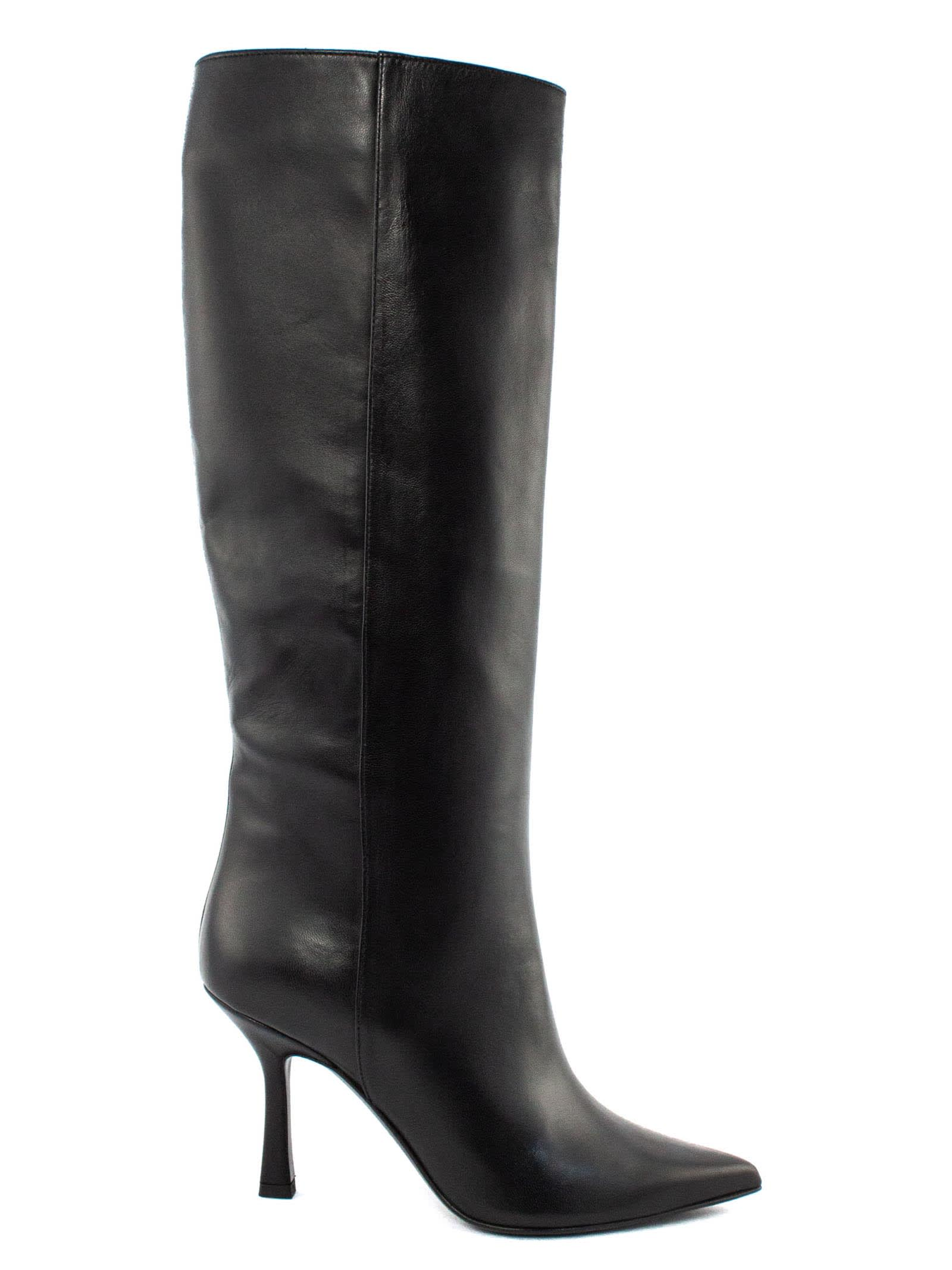 Paola High Boot In Black Leather