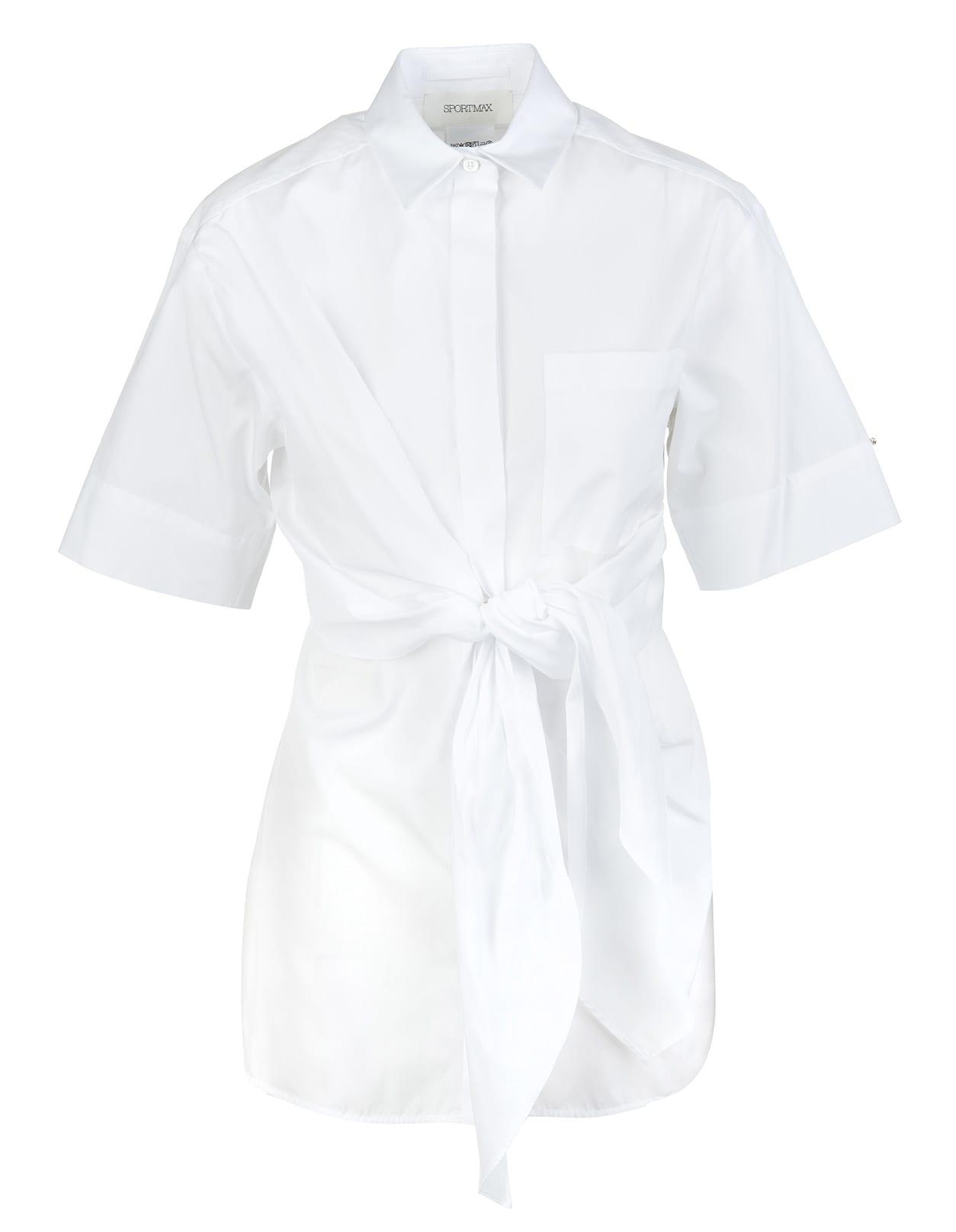 Max Mara Cottons WHITE GIRO SHIRT