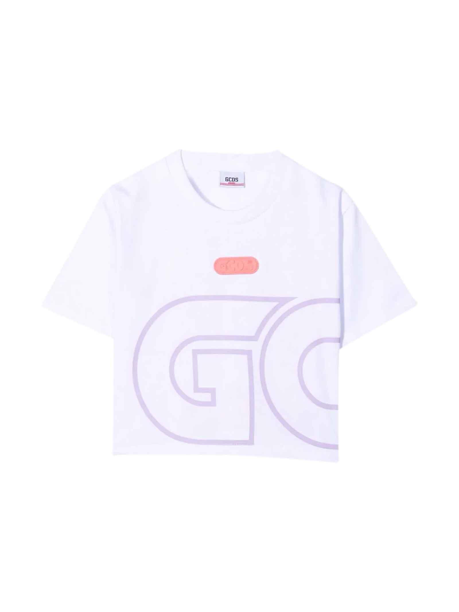 White Design Cropped T-shirt