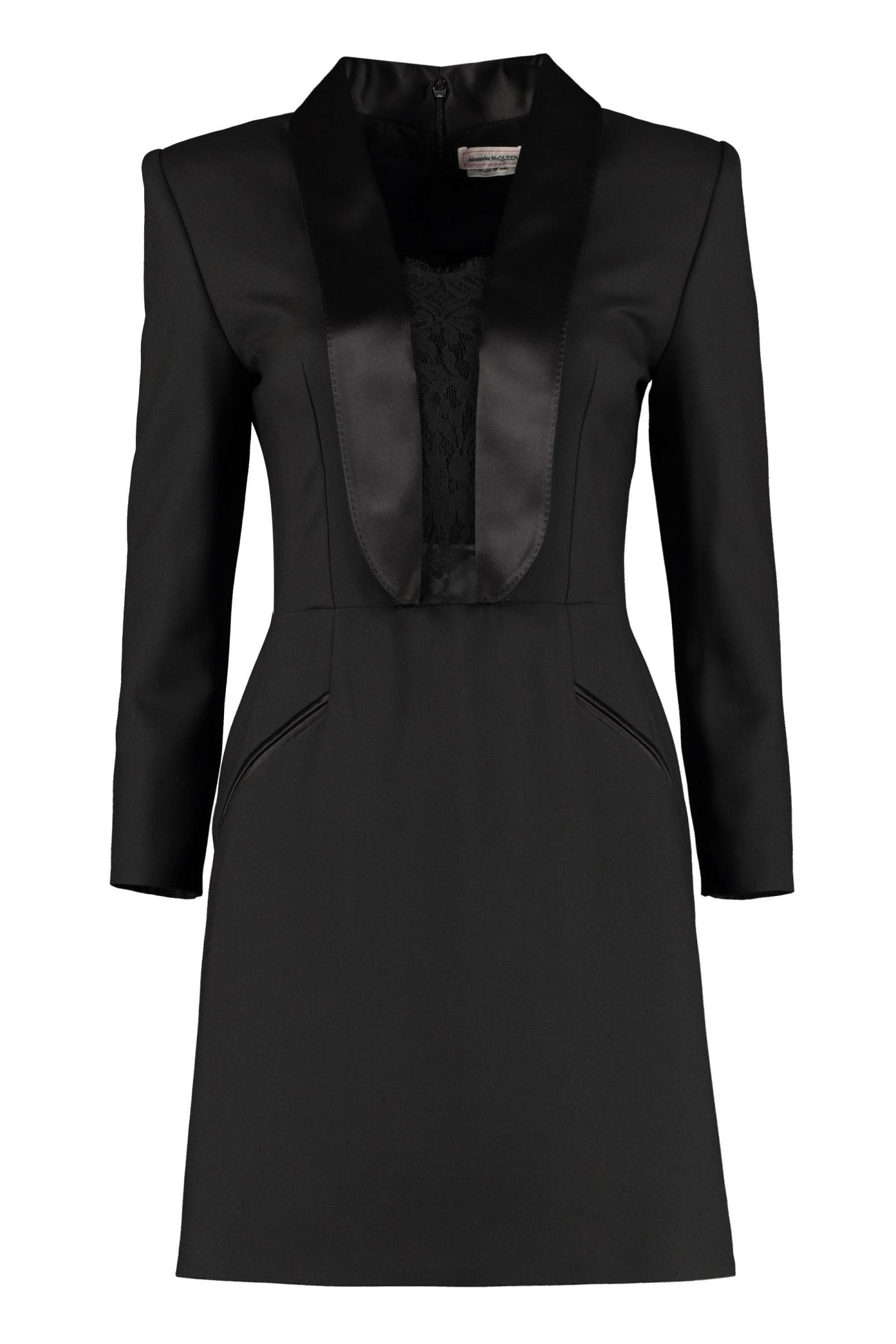 Alexander McQueen Blazer Dress With Lace Details