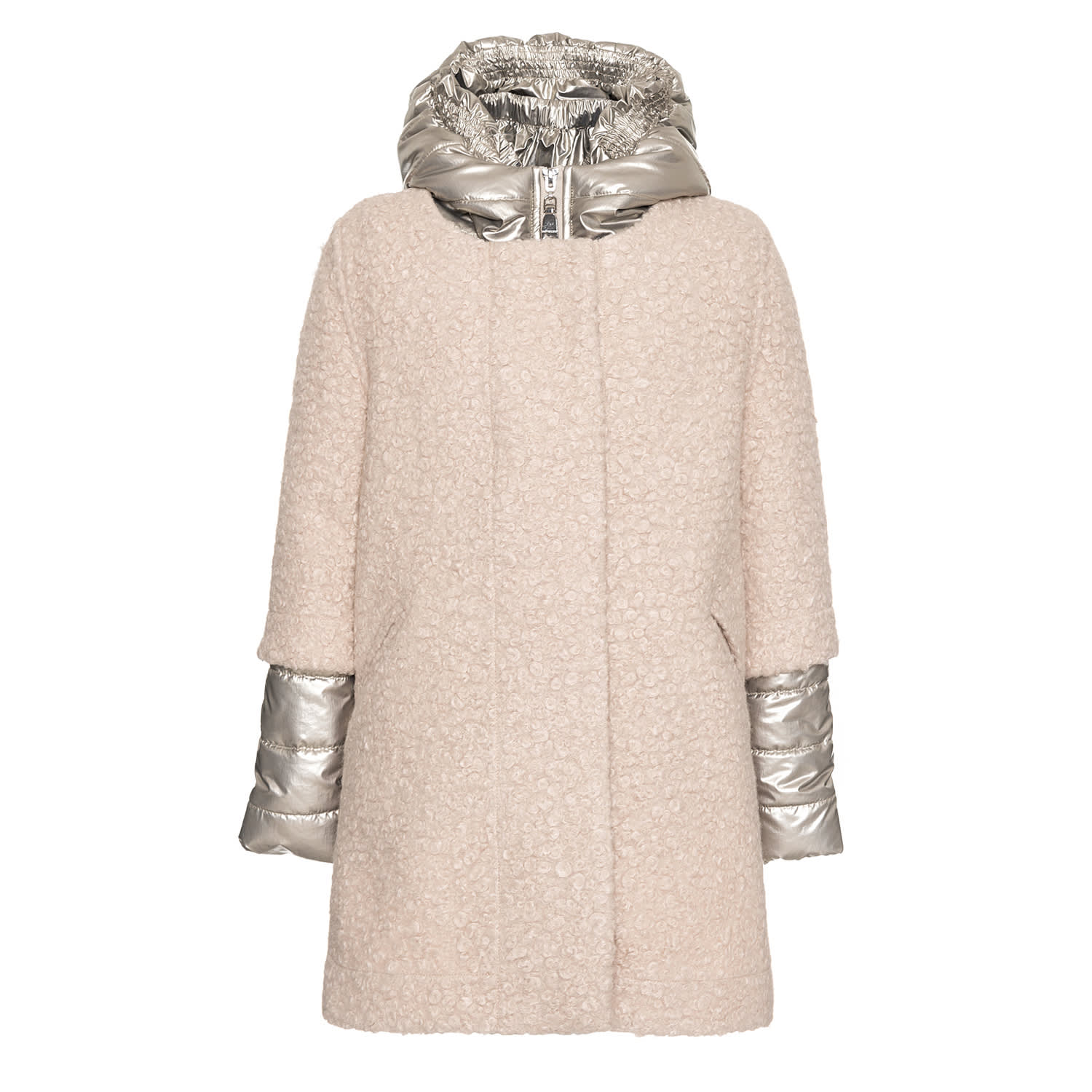 Monnalisa Double Boucle Winter Coat from MonnalisaComposition: 50% Polyester, 50% Polyamide