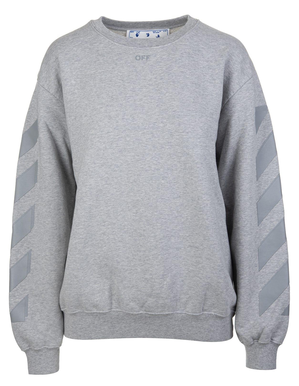 Off-White Woman Grey Arrow Sweatshirt