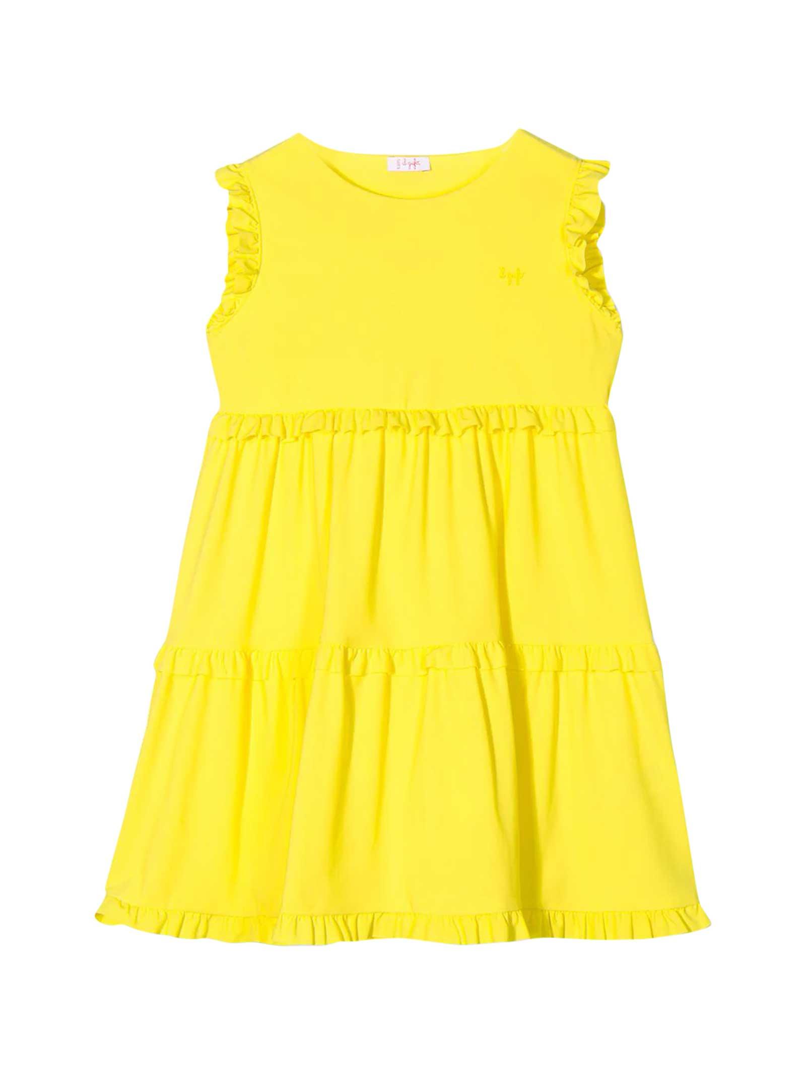 Buy Il Gufo Yellow Dress Kids online, shop Il Gufo with free shipping