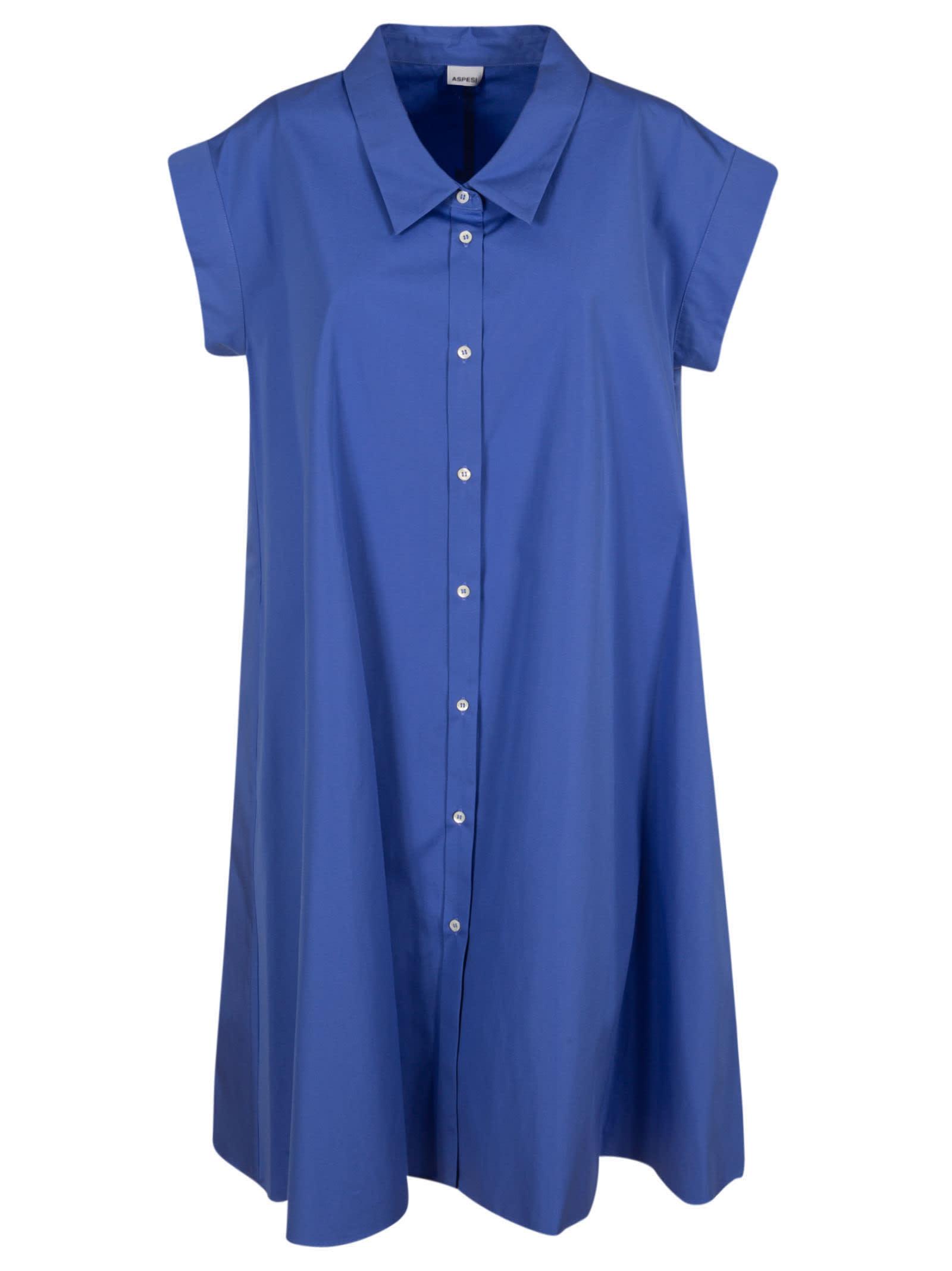 Buy Aspesi Long Length Buttoned Wide Dress online, shop Aspesi with free shipping