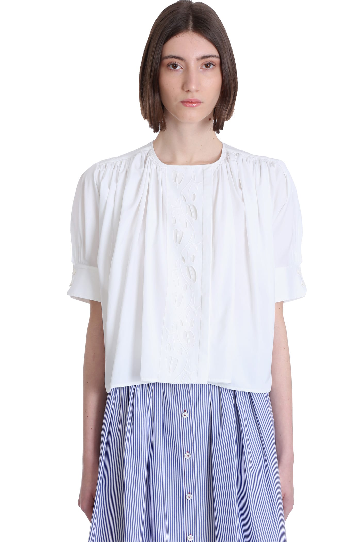 Chloé Cottons BLOUSE IN WHITE COTTON