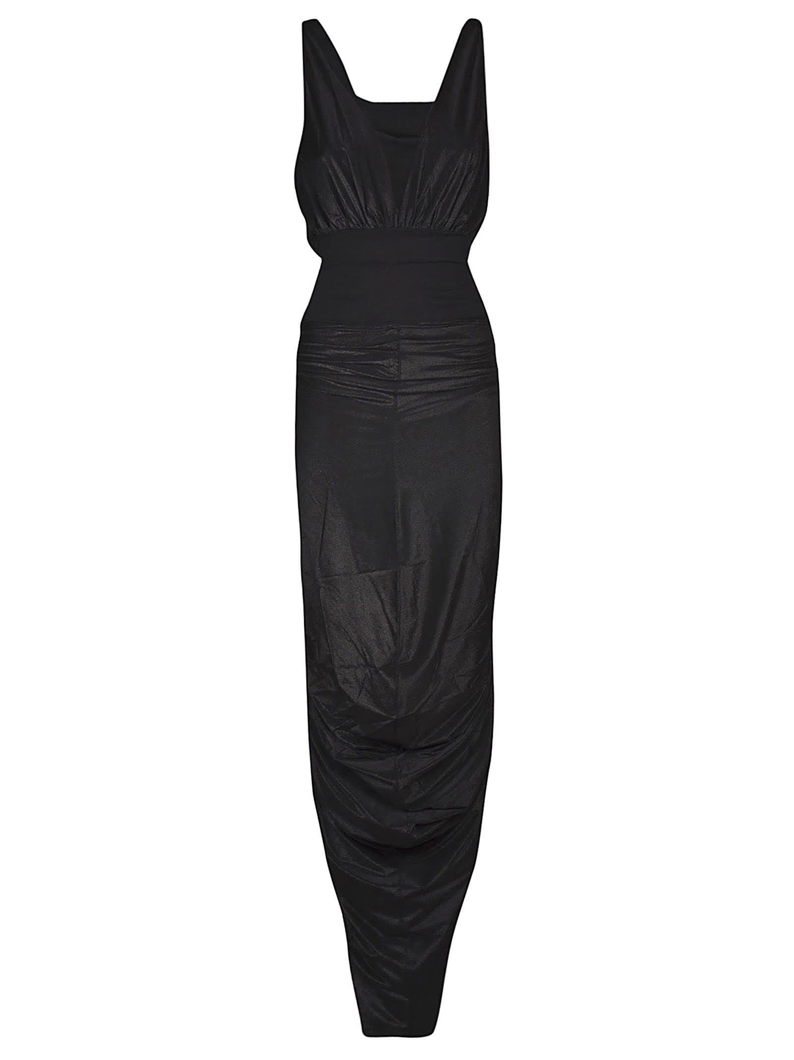 Buy Rick Owens Lilies Deep V-neck Sleeveless Gown Dress online, shop Rick Owens Lilies with free shipping