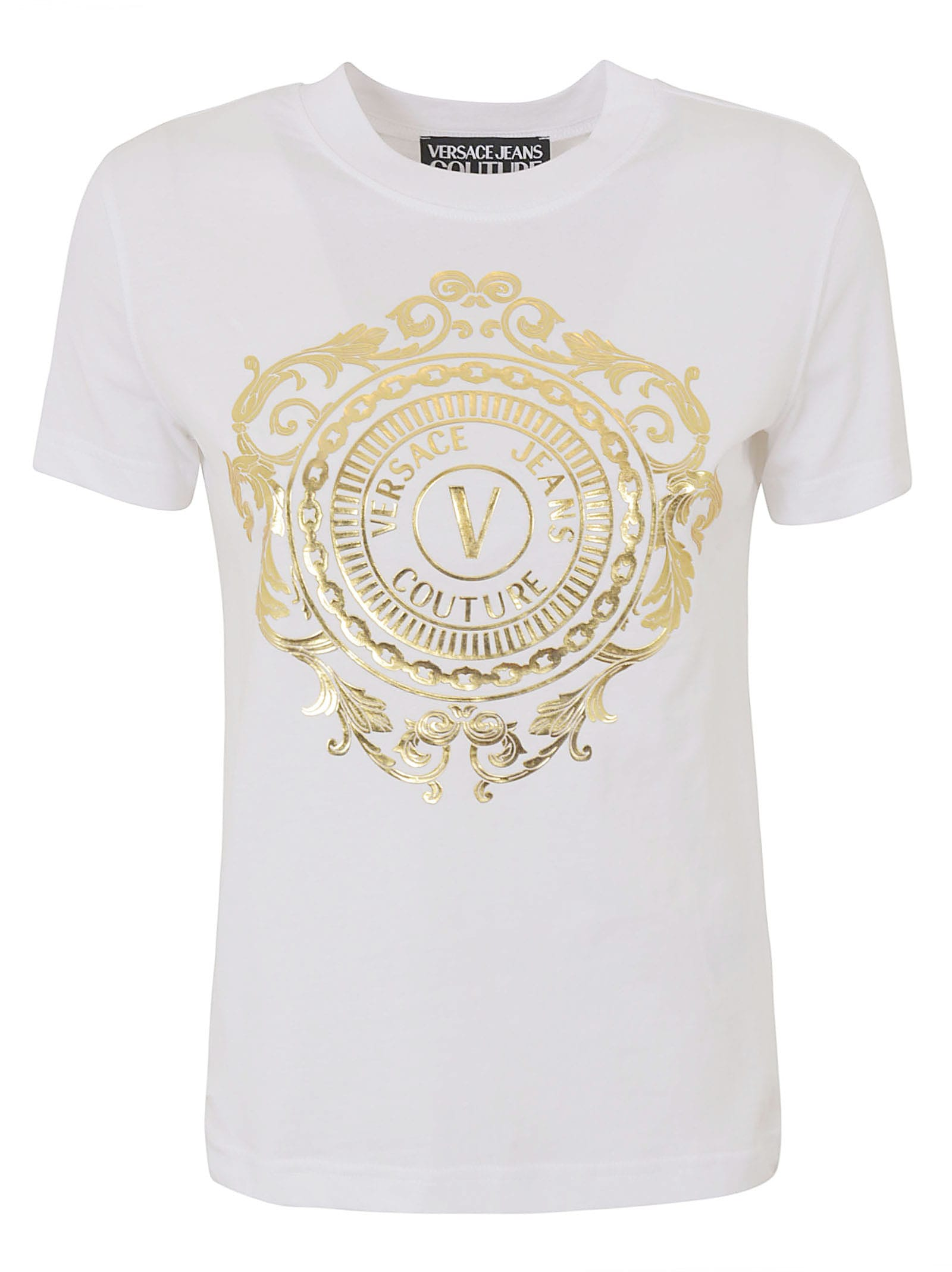 Versace Jeans Couture Cottons LOGO STAMPED T-SHIRT