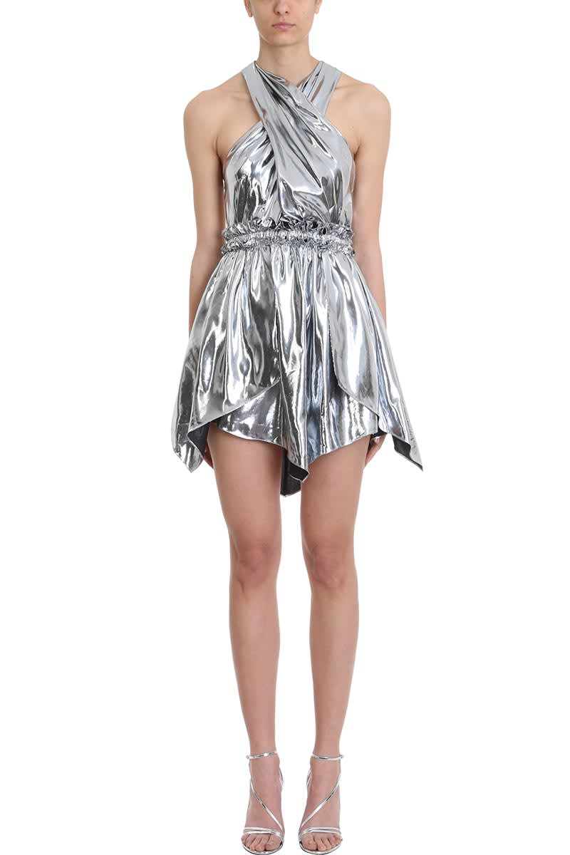 Isabel Marant Kary Metallic Silver Dress