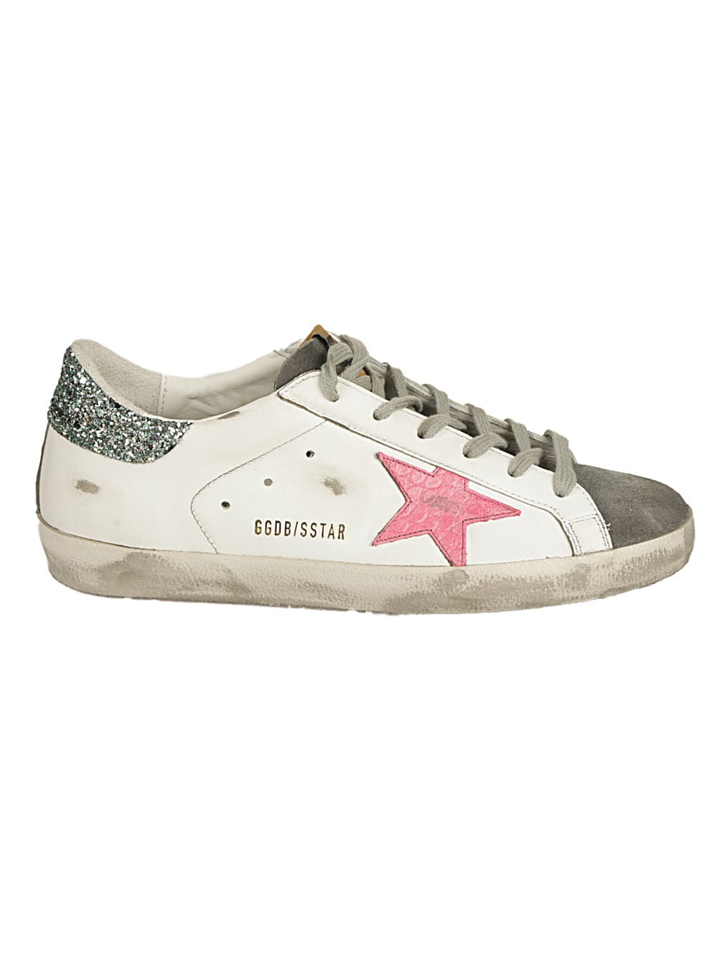 Golden Goose Leathers SUPERSTAR LEATHER UPPER COCCO PRINT STAR GLITTER H
