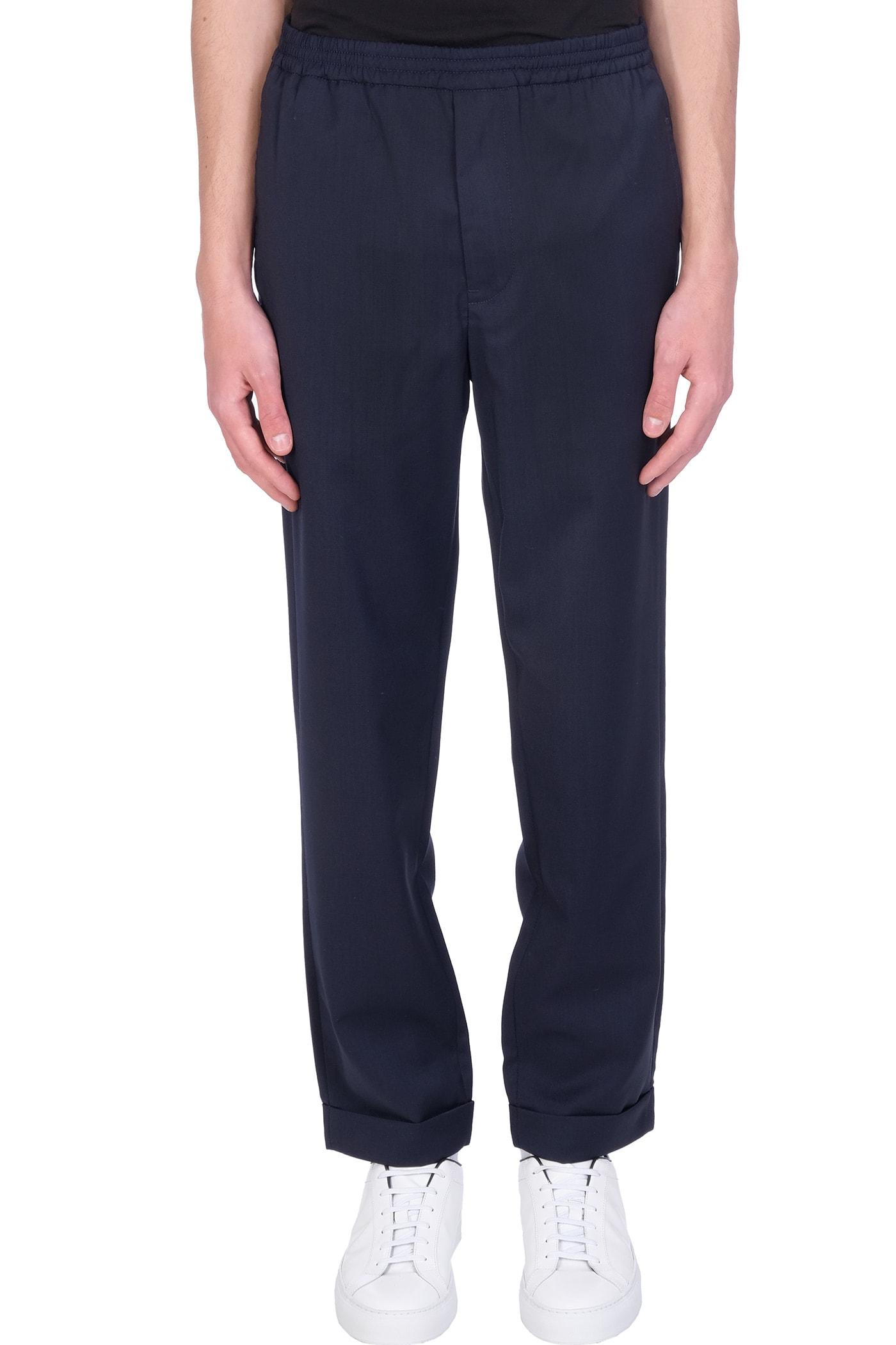 Pants In Blue Wool