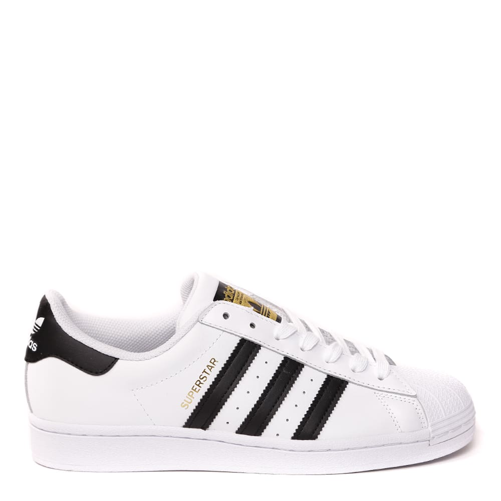 ADIDAS ORIGINALS SUPERSTAR WHITE & BLACK LEATHER SNEAKERS