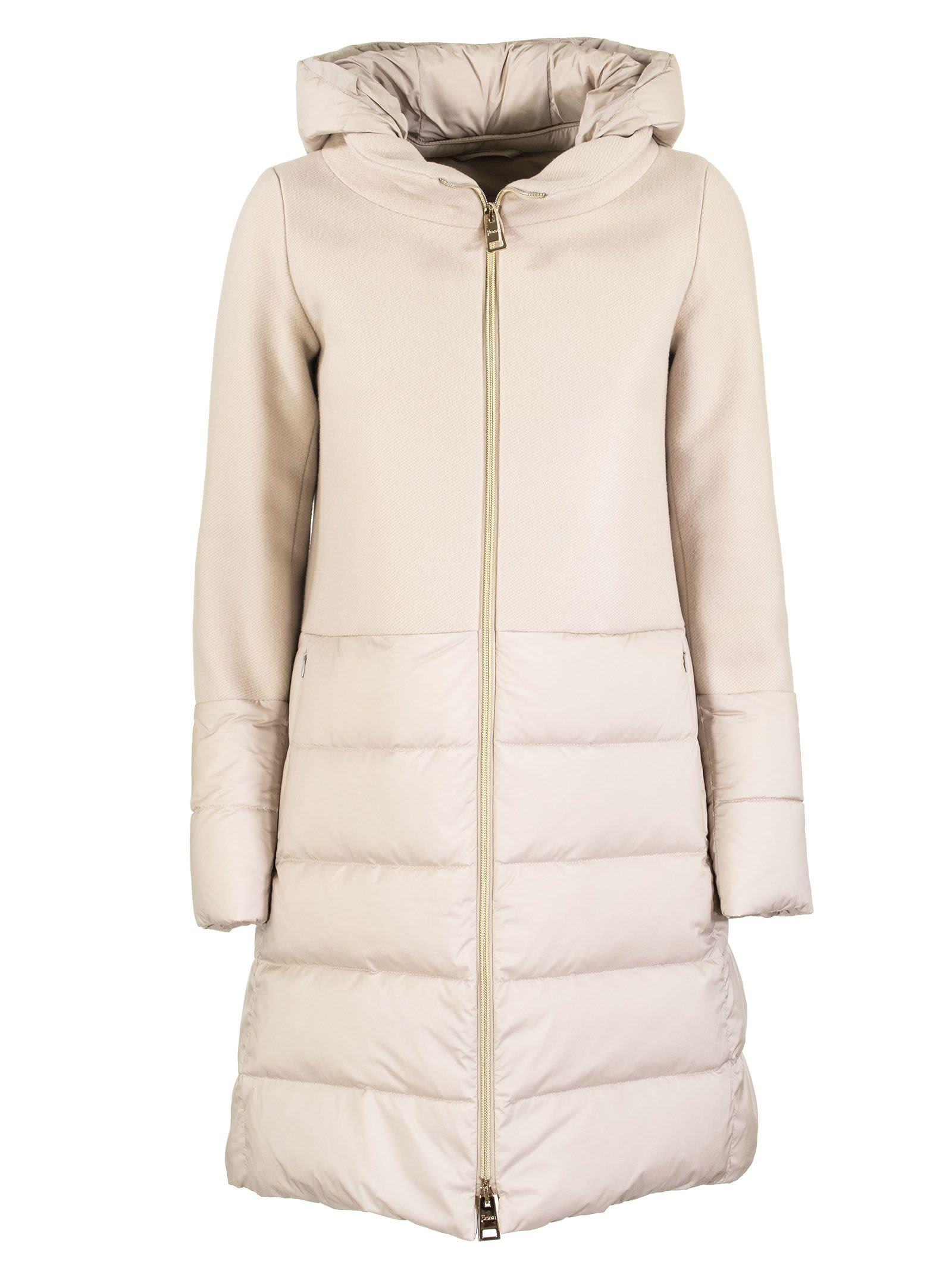 Herno Diagonal Wool Down Jacket And Nuoage