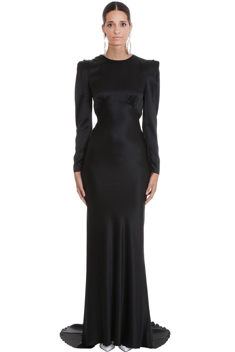 Alessandra Rich Dress In Black Silk