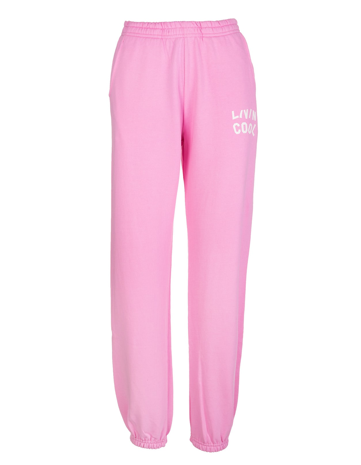 Woman Pink Joggers With White Logo