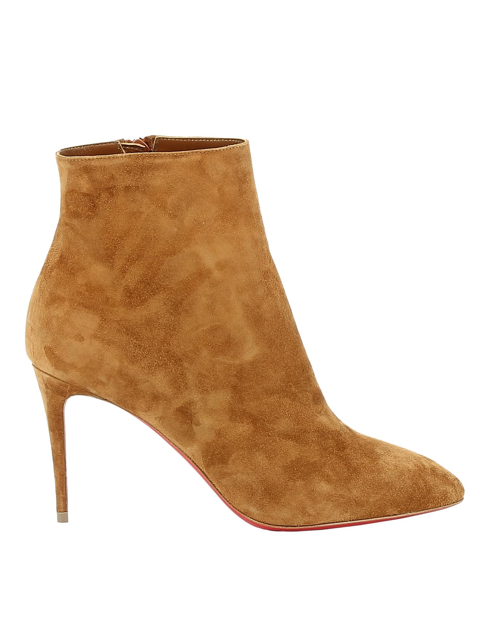 innovative design d8b9f f7662 Best price on the market at italist | Christian Louboutin Christian  Louboutin Cuoio Suede Ankle Boots