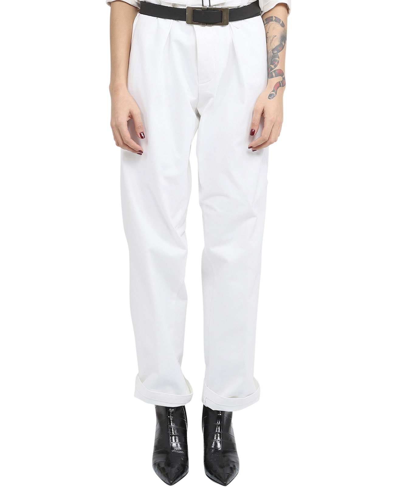 Haider Ackermann White Belted Trousers