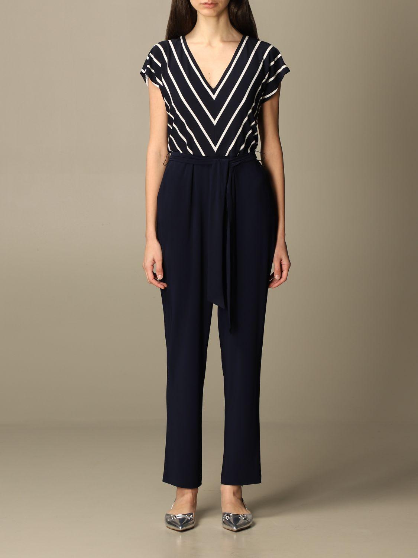 Buy Lauren Ralph Lauren Dress Long Lauren Ralph Lauren Striped Jumpsuit online, shop Ralph Lauren with free shipping