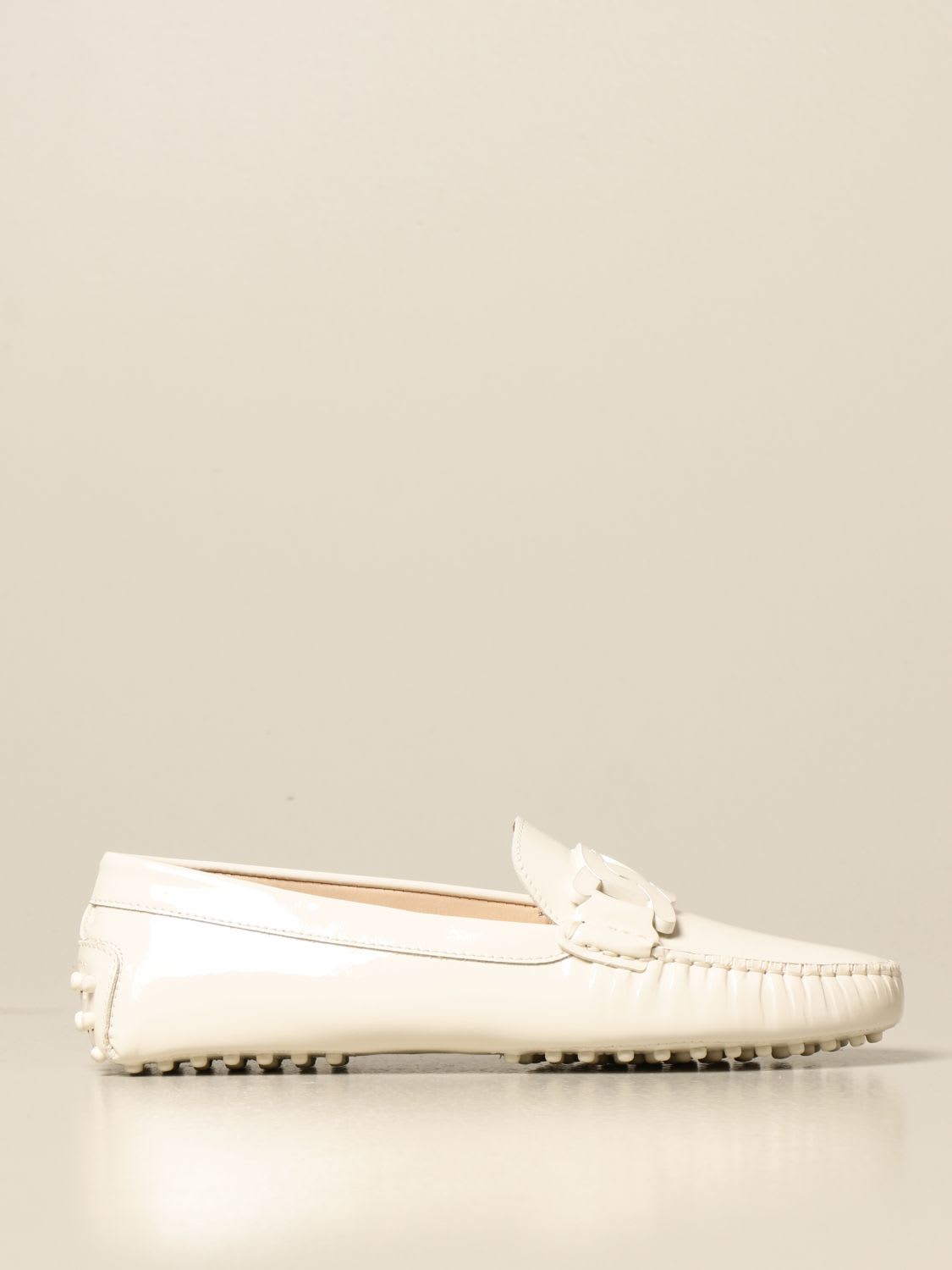 Tods Loafers Tods Gommini Moccasin In Leather With Chain