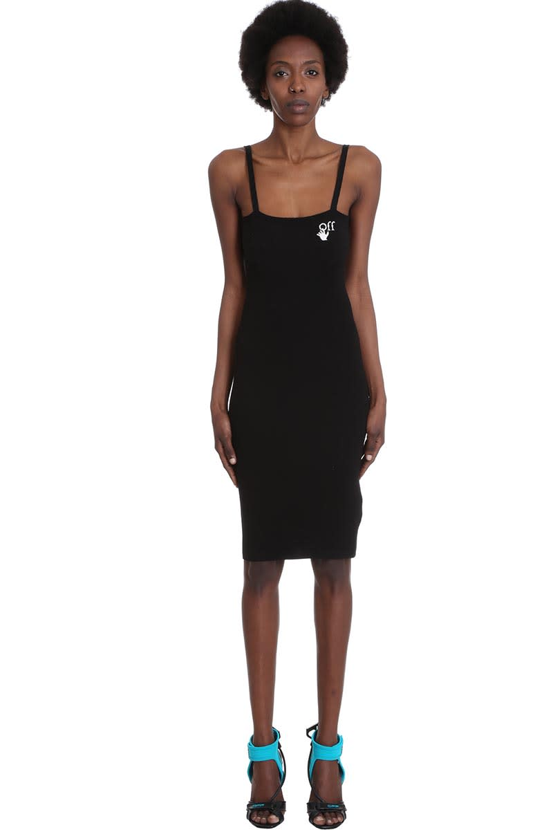 Buy Off-White Basic Long Dres Dress In Black Viscose online, shop Off-White with free shipping