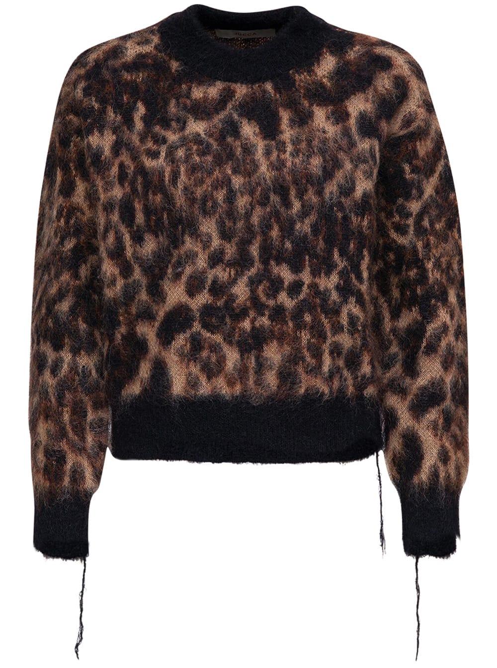 Animalier Mohair Blend Sweater
