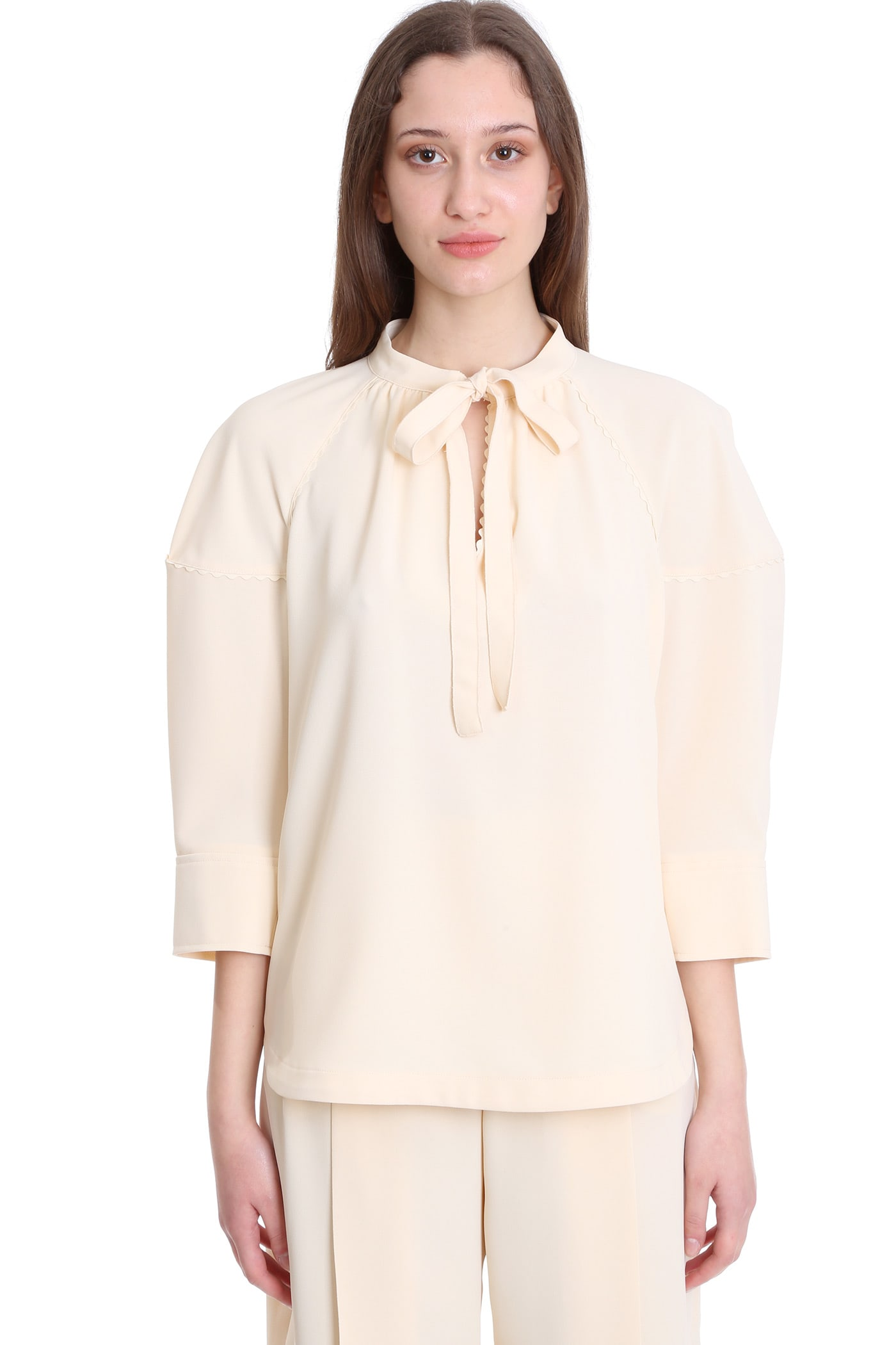 See By Chloé BLOUSE IN BEIGE POLYESTER