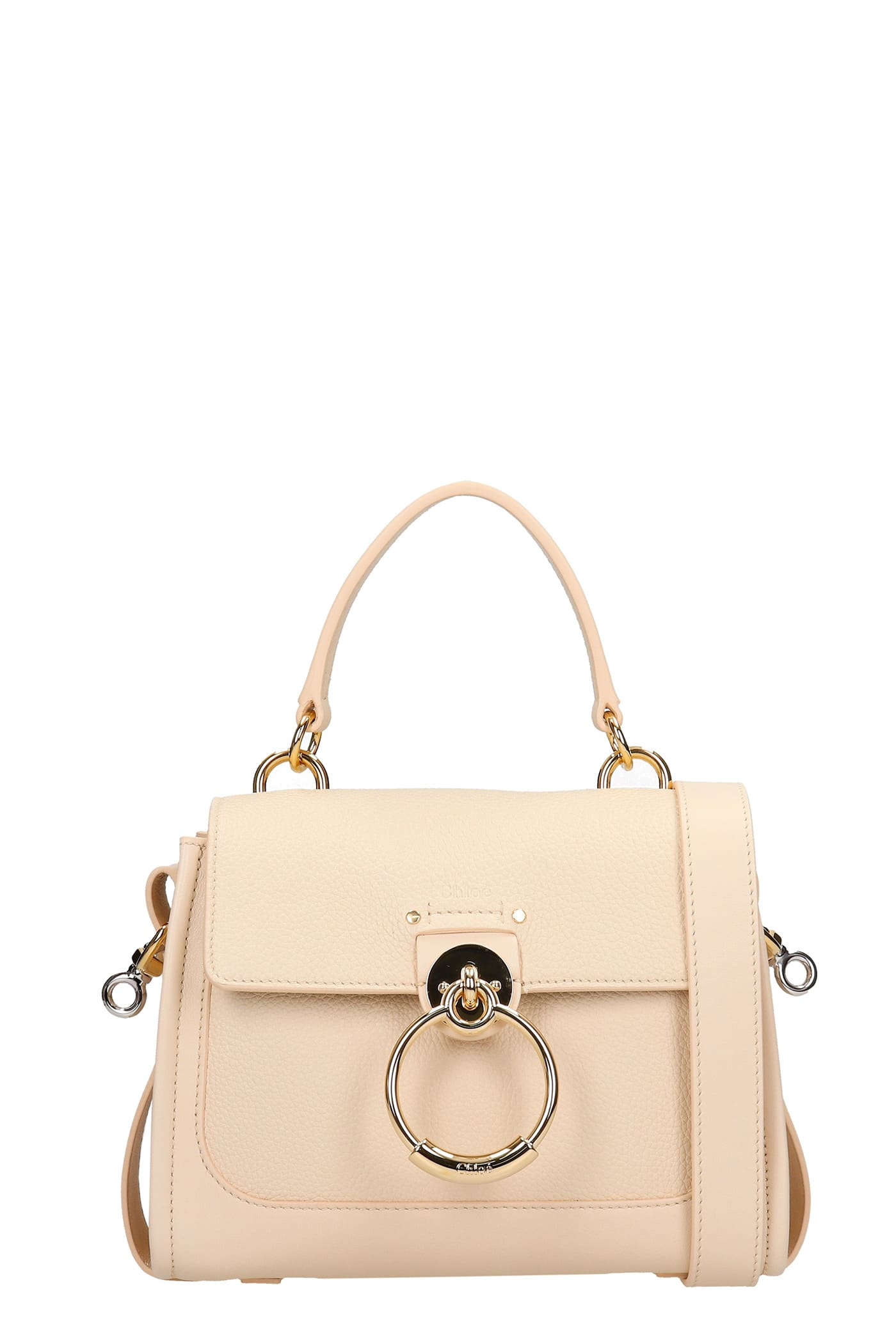 Chloé Leathers TESS HAND BAG IN WHITE LEATHER