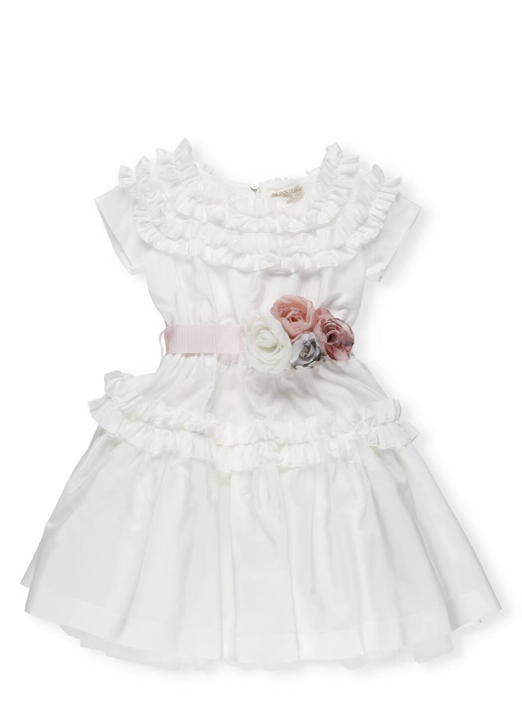 Buy Monnalisa Taffeta Dress With Rouches online, shop Monnalisa with free shipping