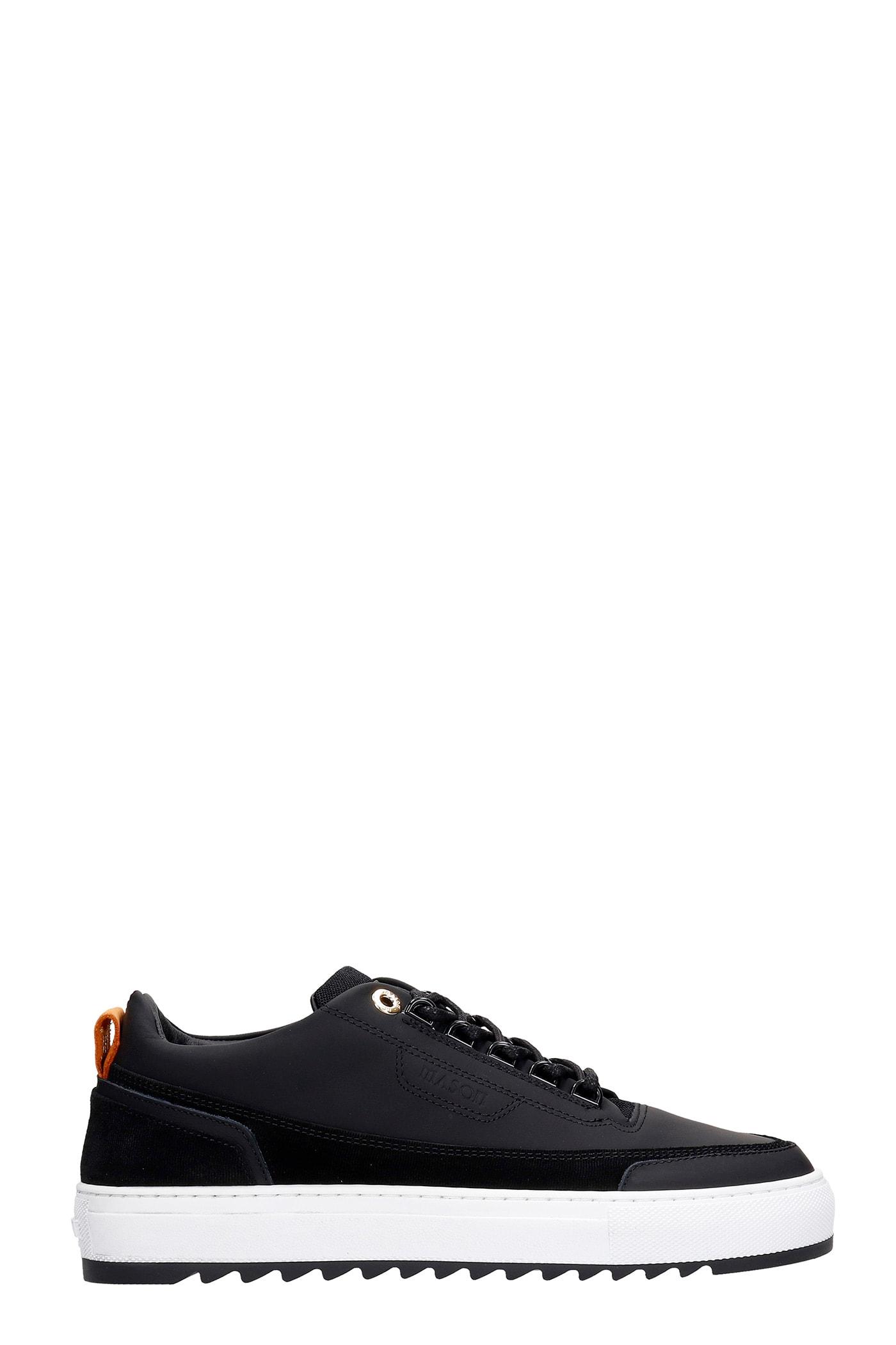 Firenze Sneakers In Black Rubber/plasic
