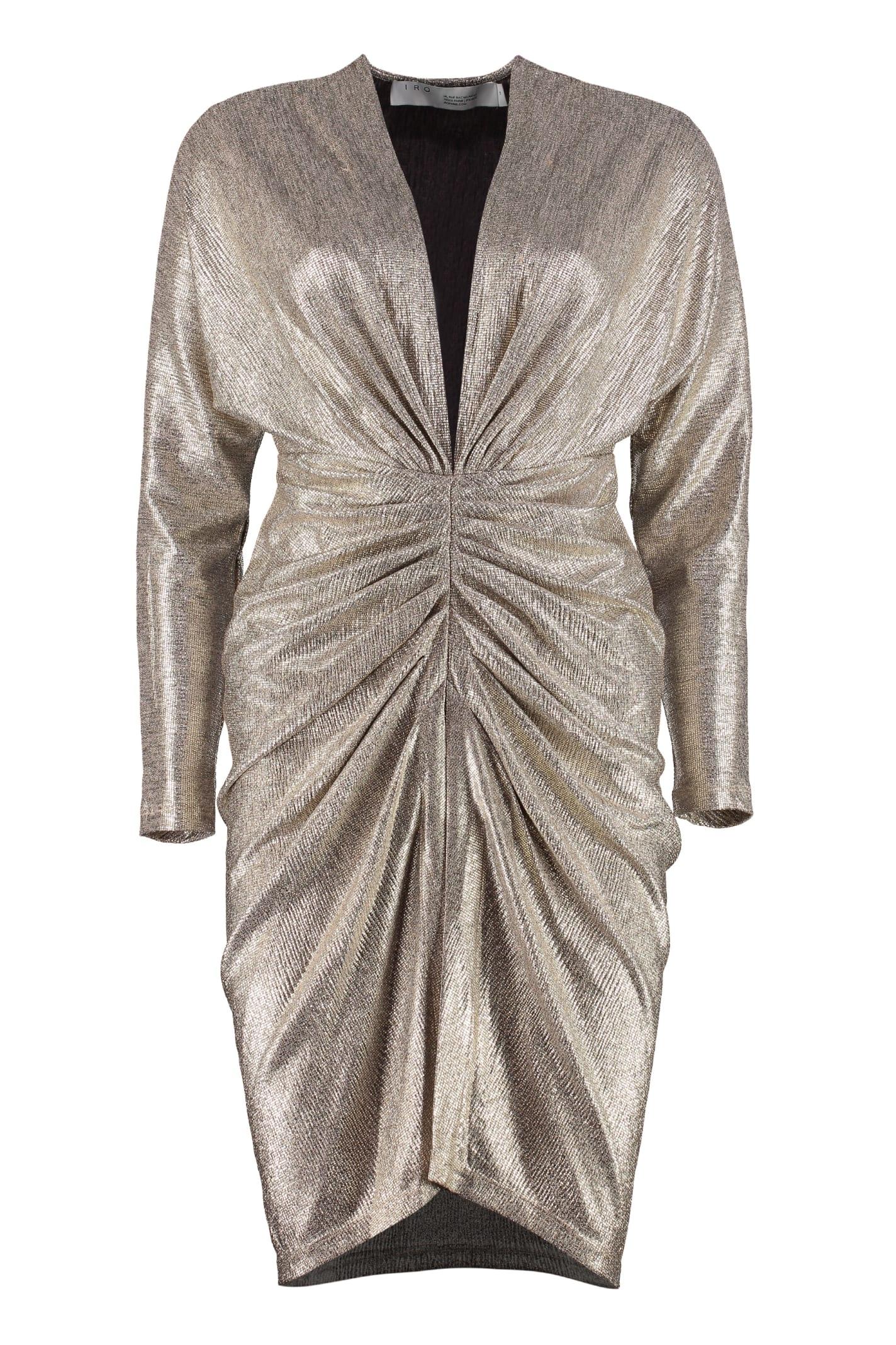 IRO Cilty Lamé Jersey Mini Dress