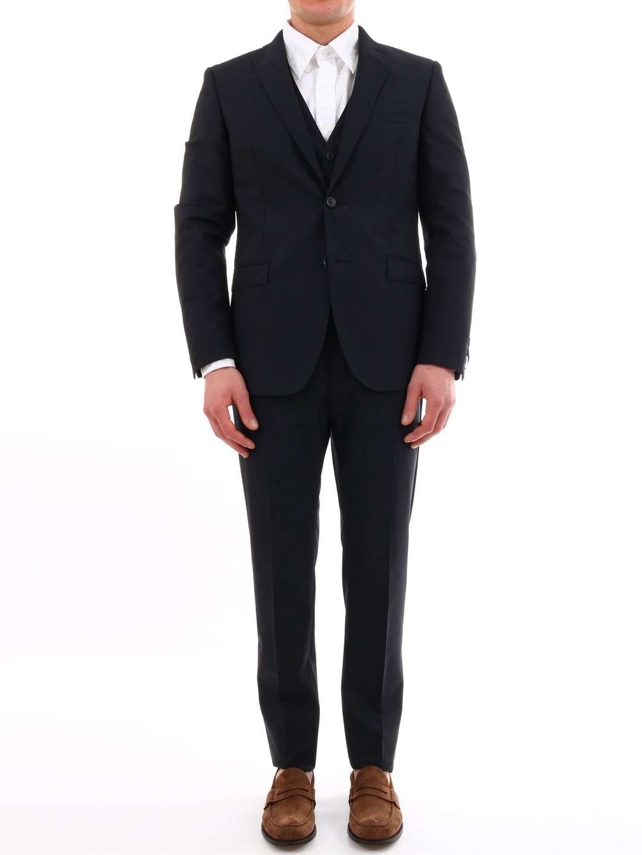 Tonello Blue Micro-pinstripe Suit