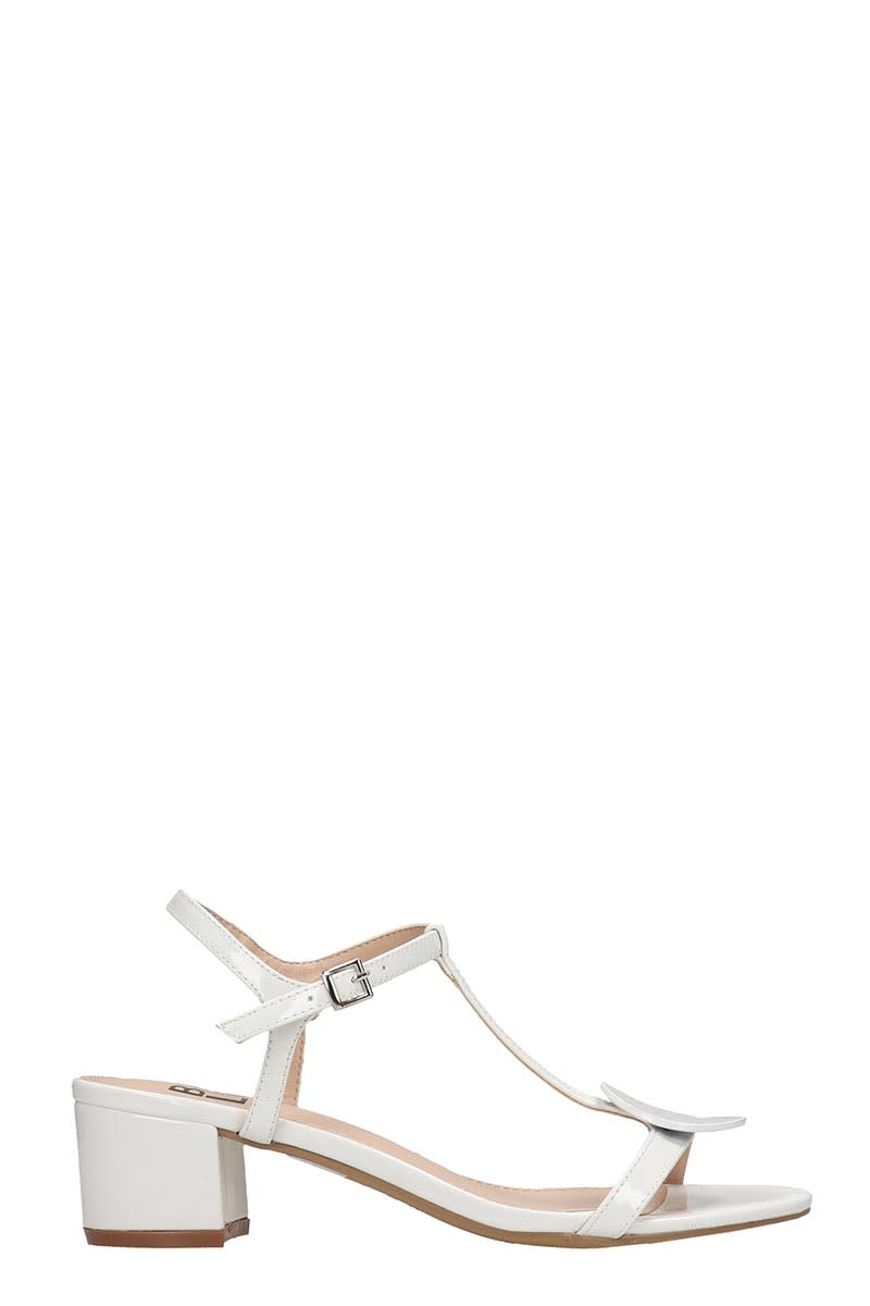 Bibi Lou Sandals In White Patent Leather