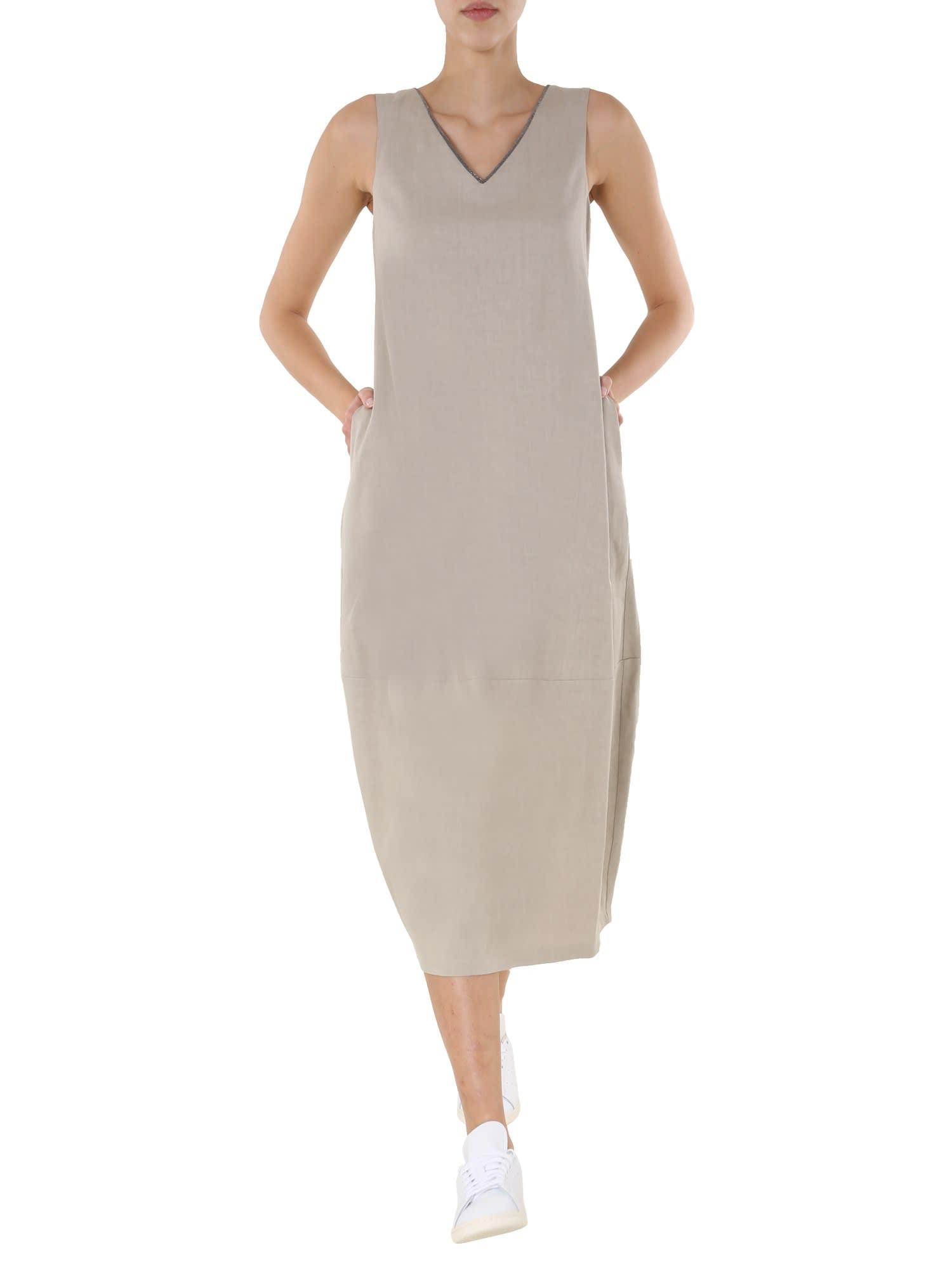 Buy Fabiana Filippi V-neck Dress online, shop Fabiana Filippi with free shipping