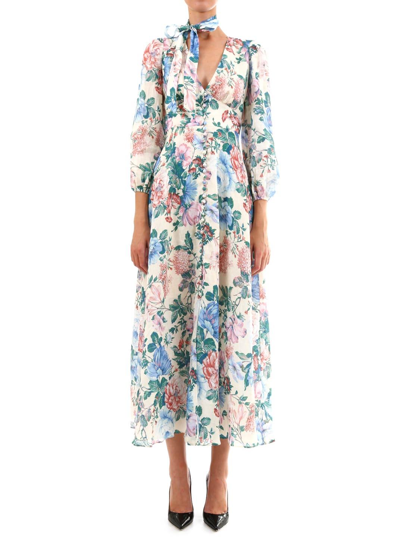 Zimmermann Verity Plunge Long Dress