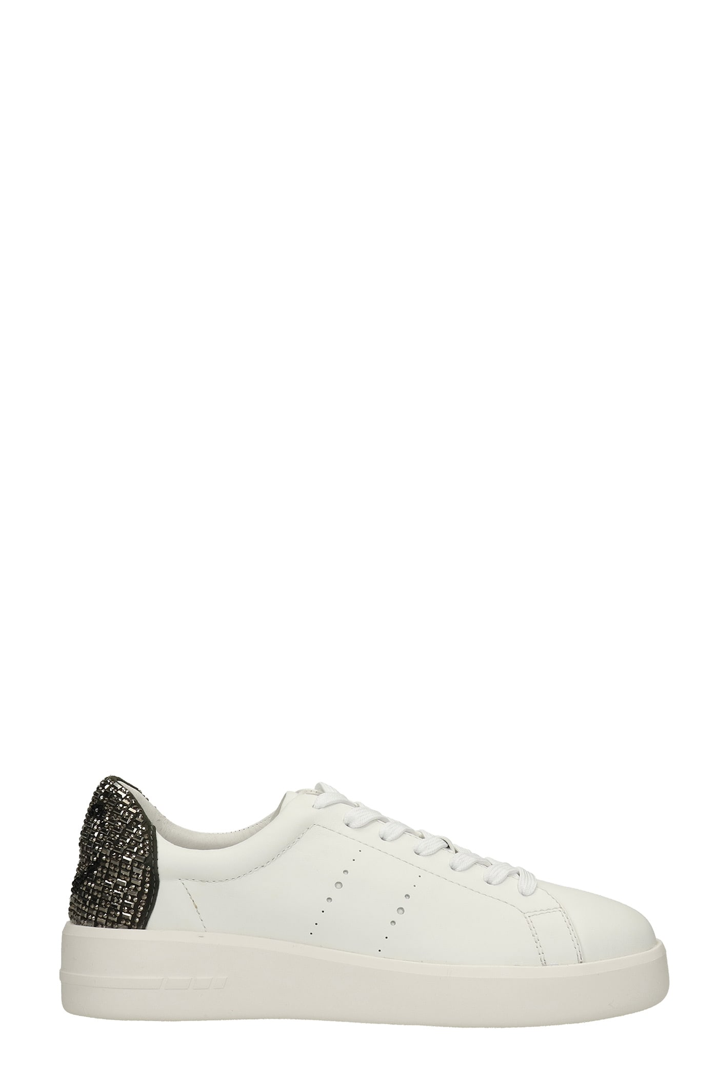 Sneakers In White Leather