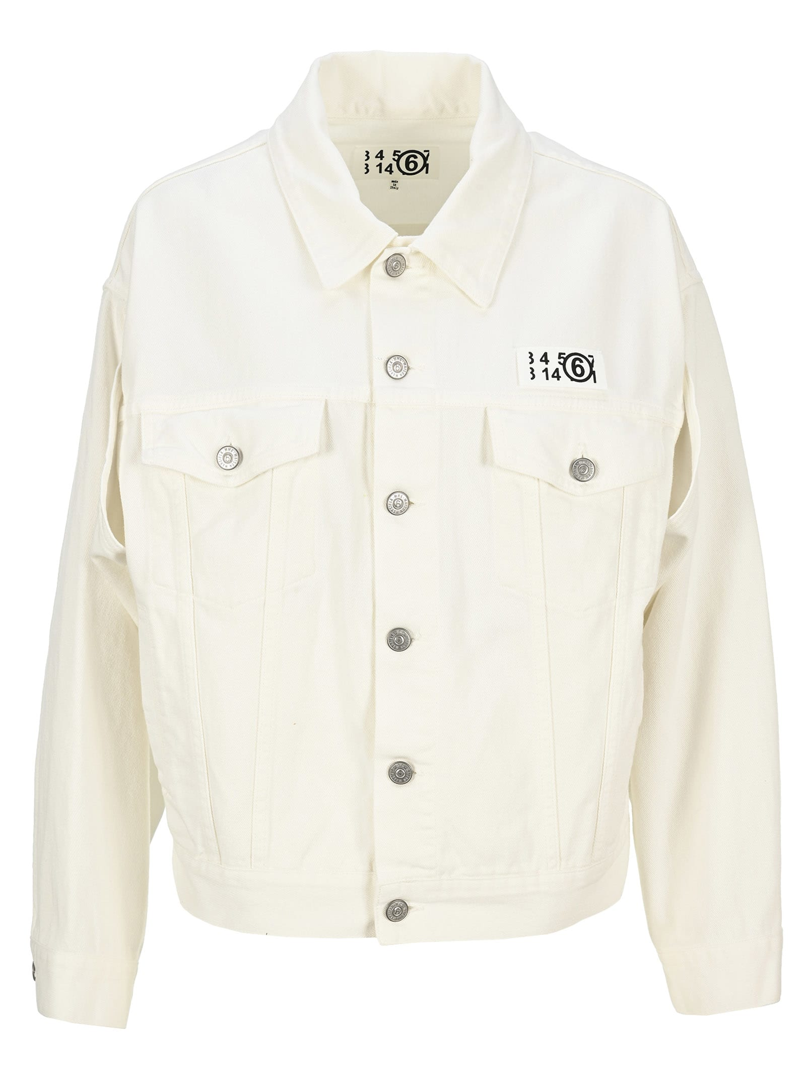 Mm6 Maison Margiela MM6 LOGO-PATCH DENIM JACKET