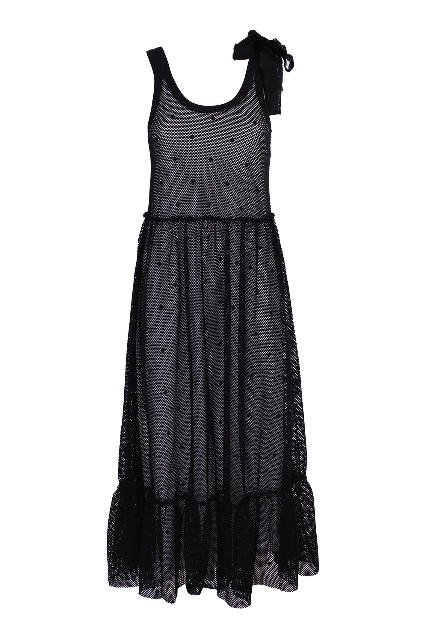 Buy Red Valentino mesh jersey dress online, shop RED Valentino with free shipping
