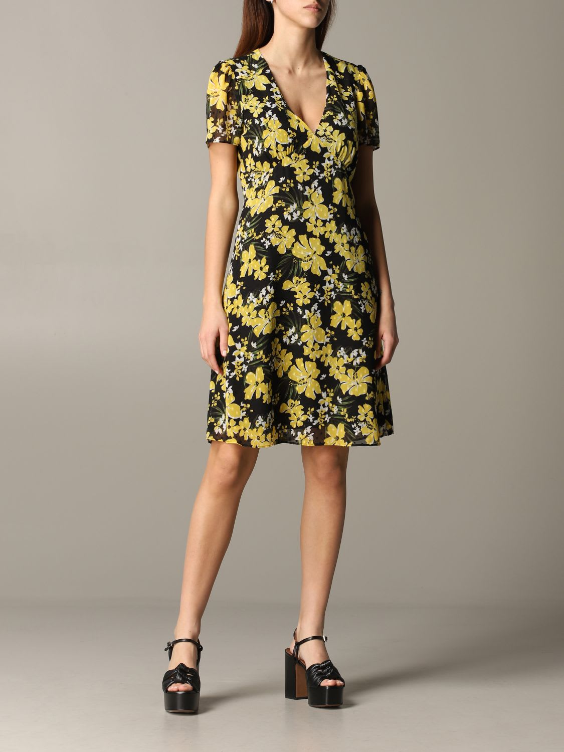 Buy Michael Michael Kors Dress Michael Michael Kors Floral Pattern Dress online, shop MICHAEL Michael Kors with free shipping