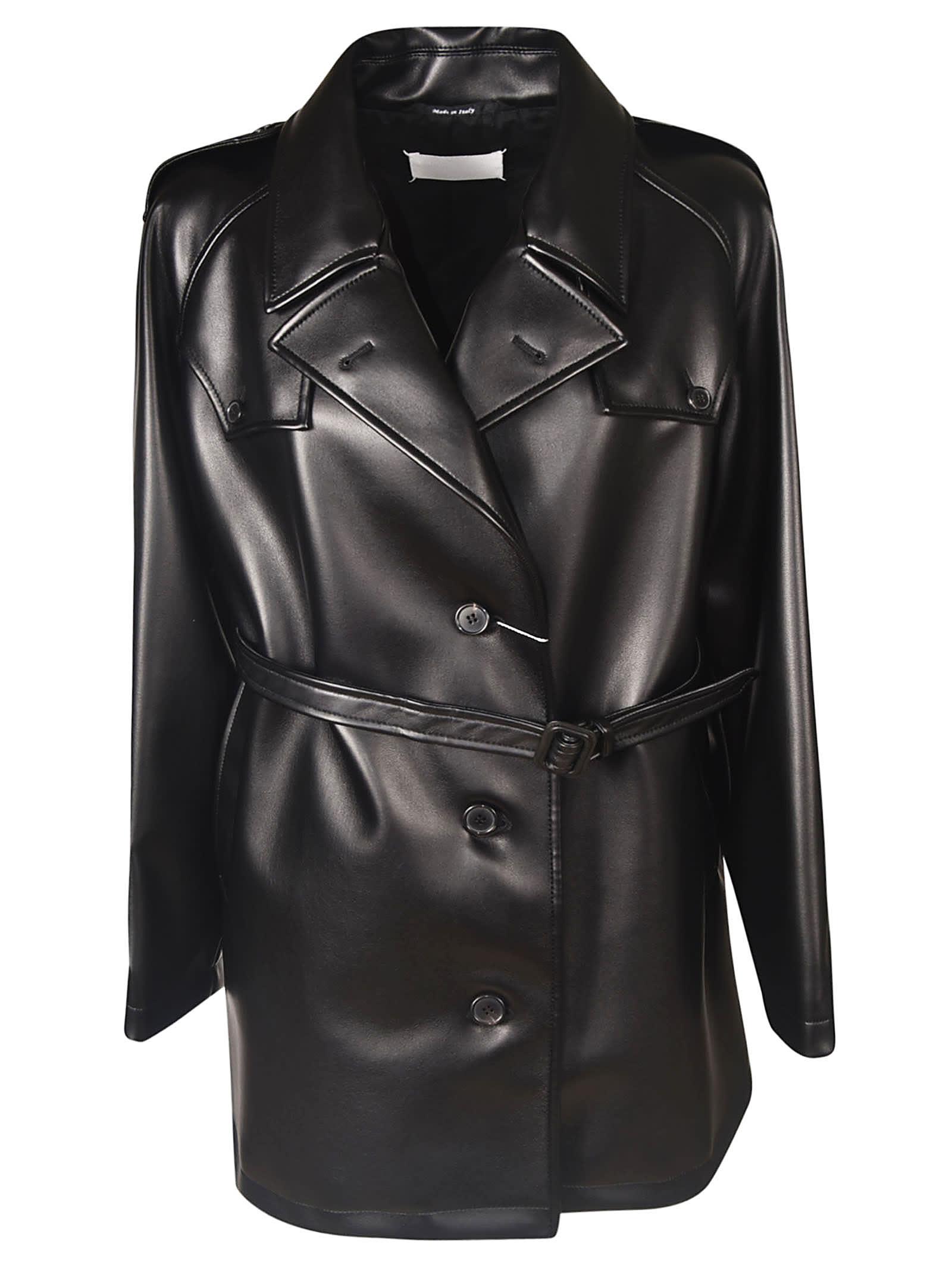Maison Margiela Single Breasted Belted Coat