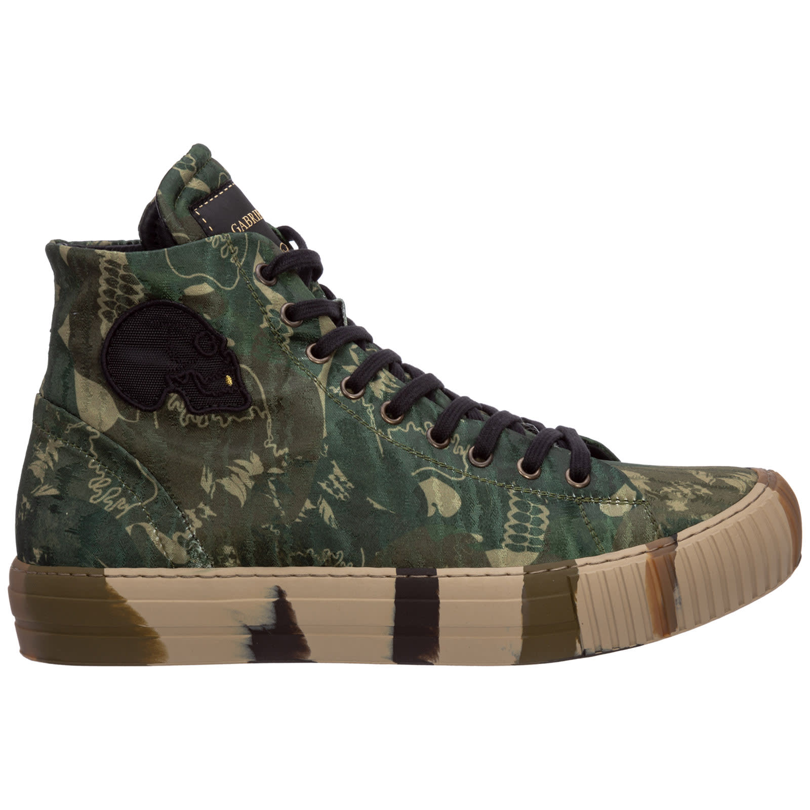 Band Logo High-top Sneakers