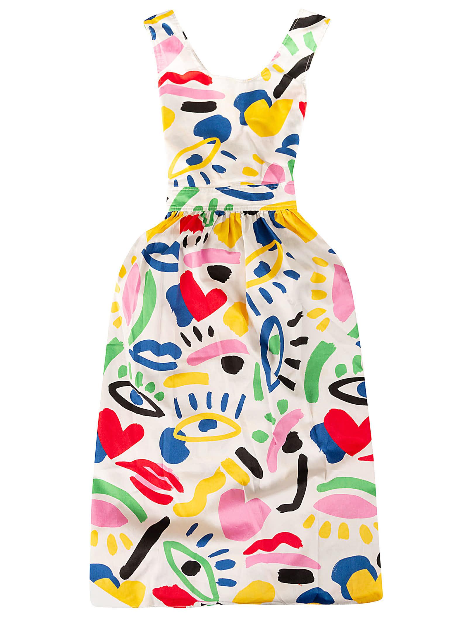 Buy Stella McCartney Kids Graphic Face Dress online, shop Stella McCartney Kids with free shipping