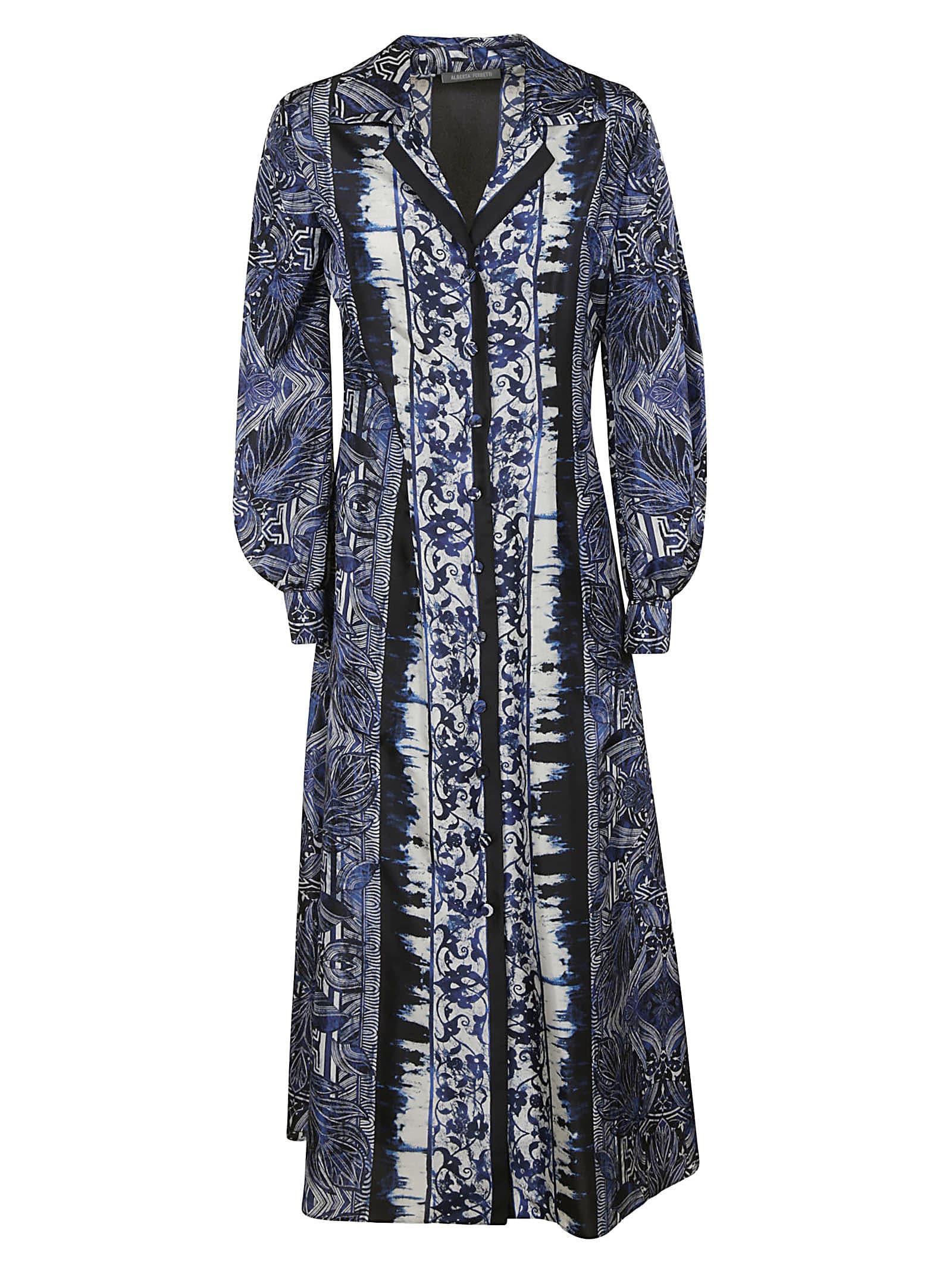 Alberta Ferretti Patterned Long Shirt Dress